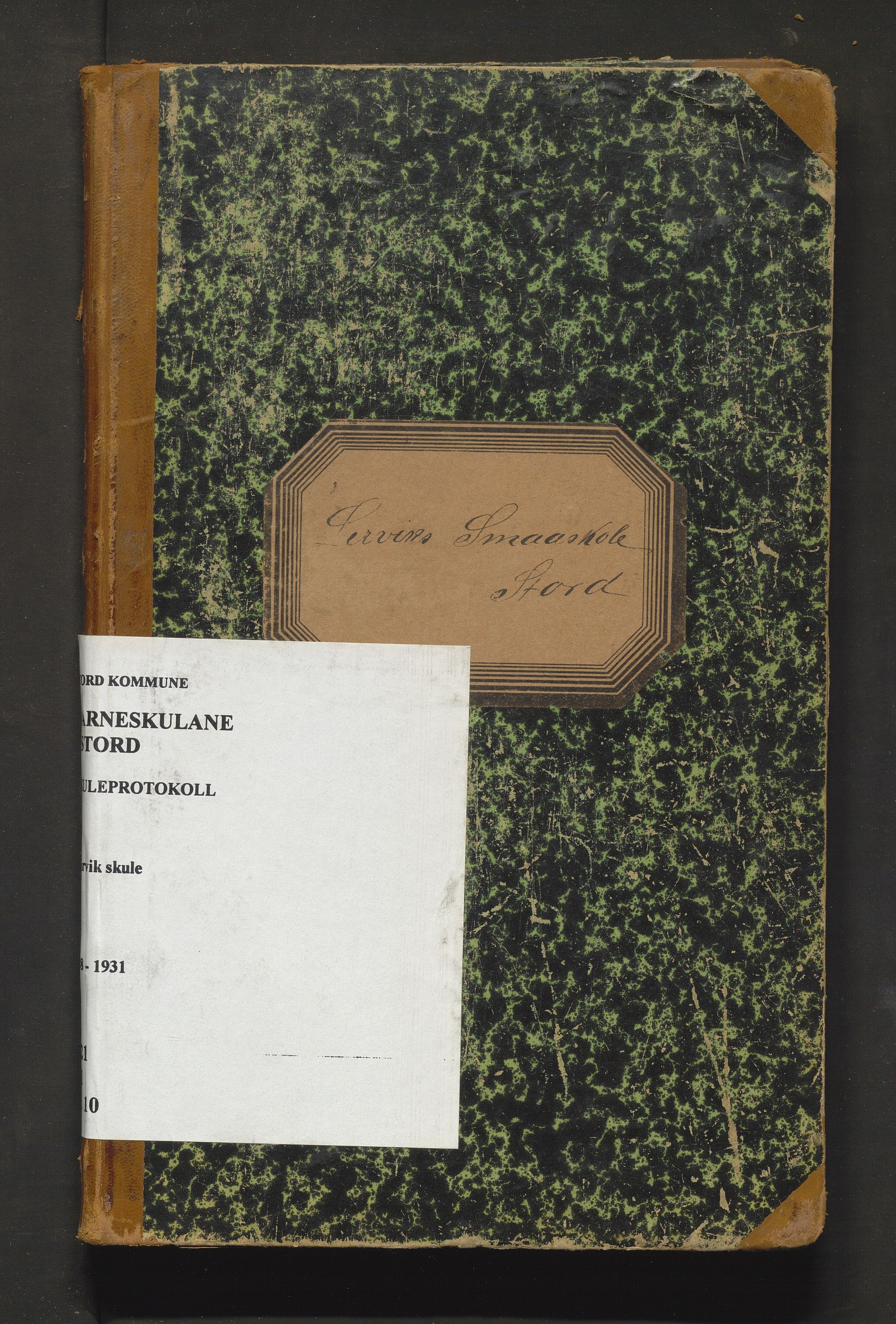 IKAH, Stord kommune. Barneskulane, F/Fa/L0010: Skuleprotokoll for Leirvik skule, 1908-1931