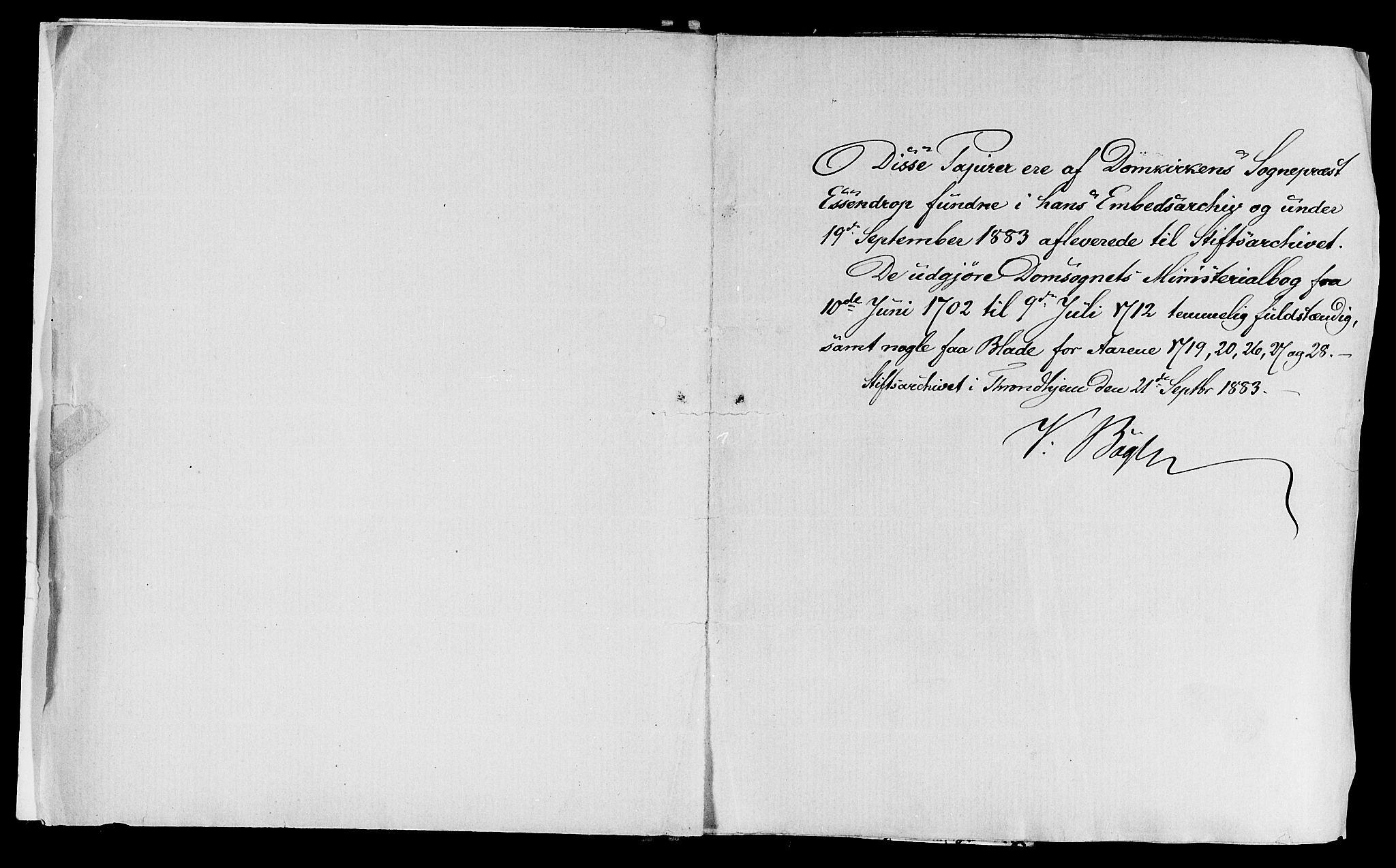 SAT, Ministerialprotokoller, klokkerbøker og fødselsregistre - Sør-Trøndelag, 601/L0034: Parish register (official) no. 601A02, 1702-1714