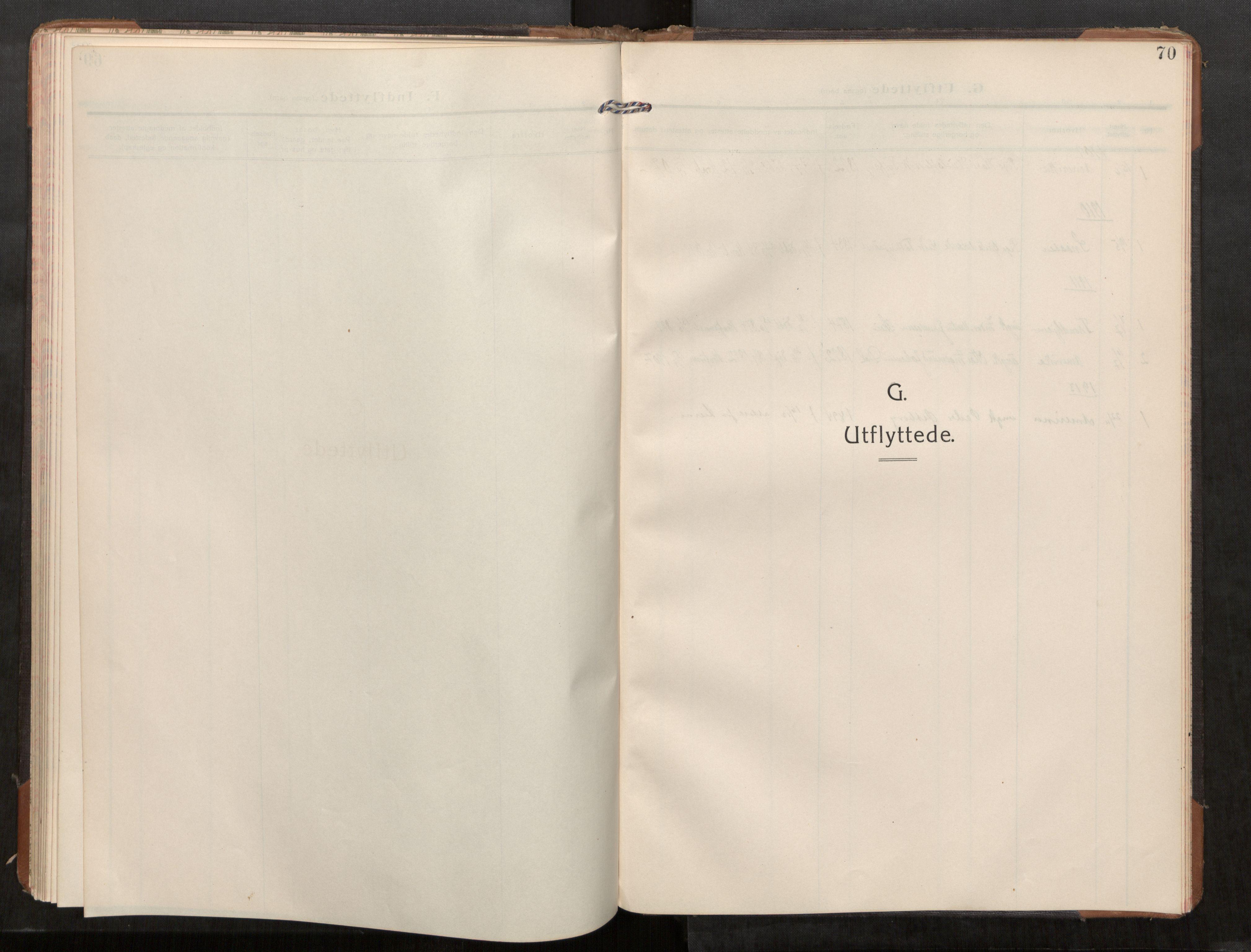 SAT, Stod sokneprestkontor, I/I1/I1a/L0003: Parish register (official) no. 3, 1909-1934, p. 70
