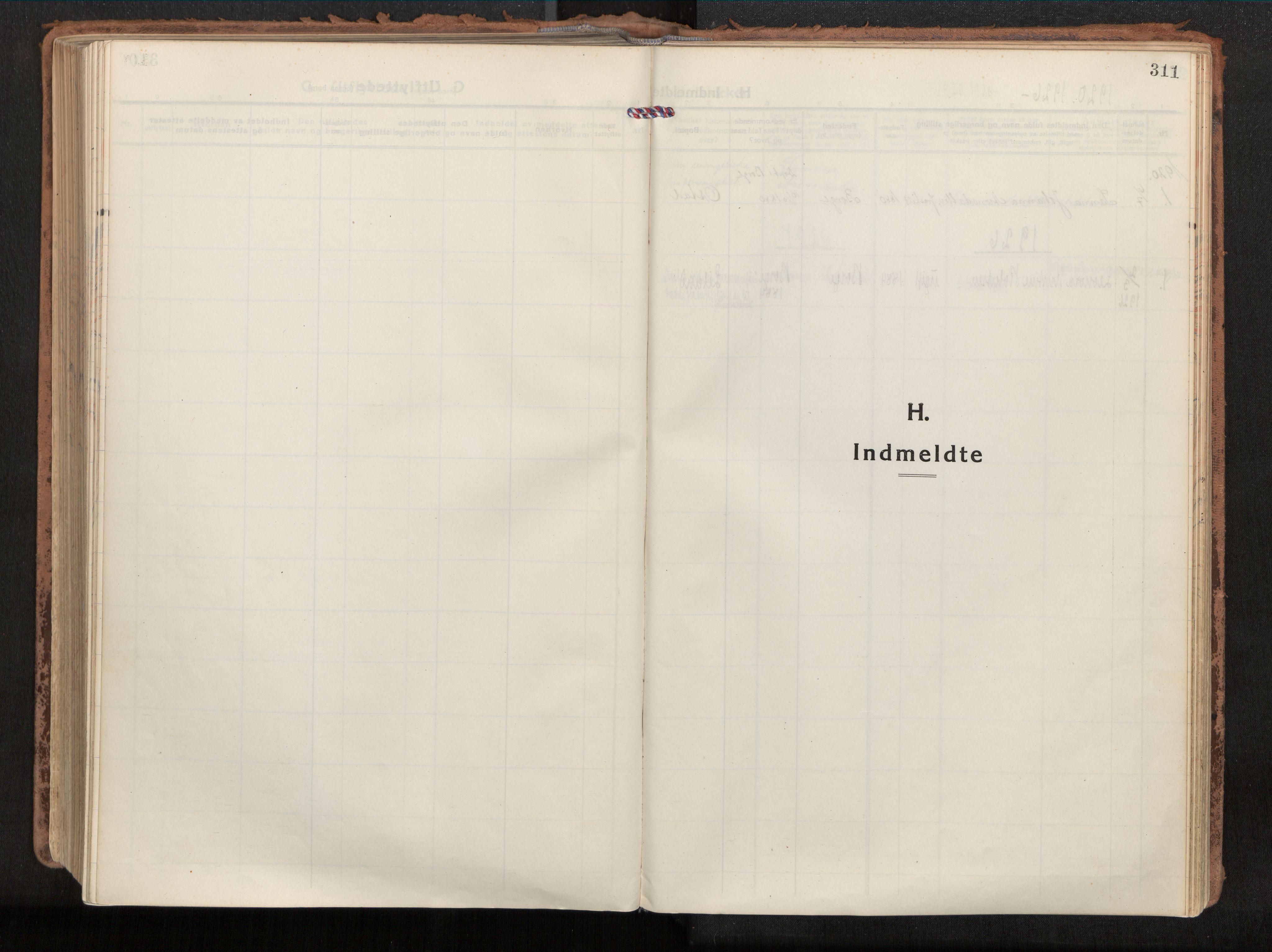 SAT, Ministerialprotokoller, klokkerbøker og fødselsregistre - Nordland, 880/L1136: Parish register (official) no. 880A10, 1919-1927, p. 311