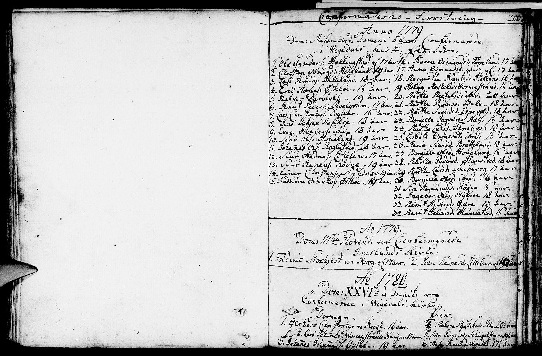SAST, Vikedal sokneprestkontor, IV: Parish register (official) no. A 2, 1779-1817, p. 200