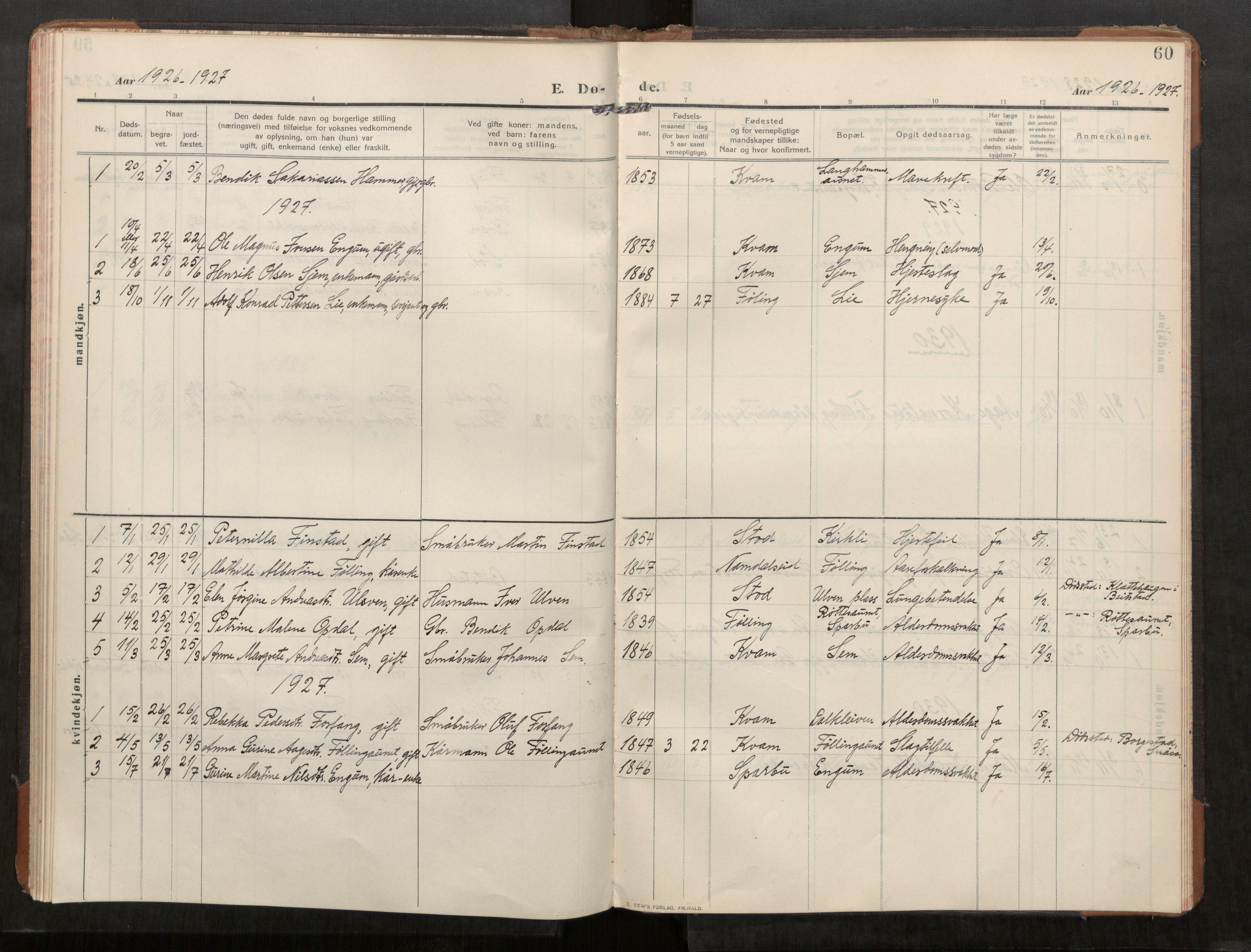 SAT, Stod sokneprestkontor, I/I1/I1a/L0003: Parish register (official) no. 3, 1909-1934, p. 60