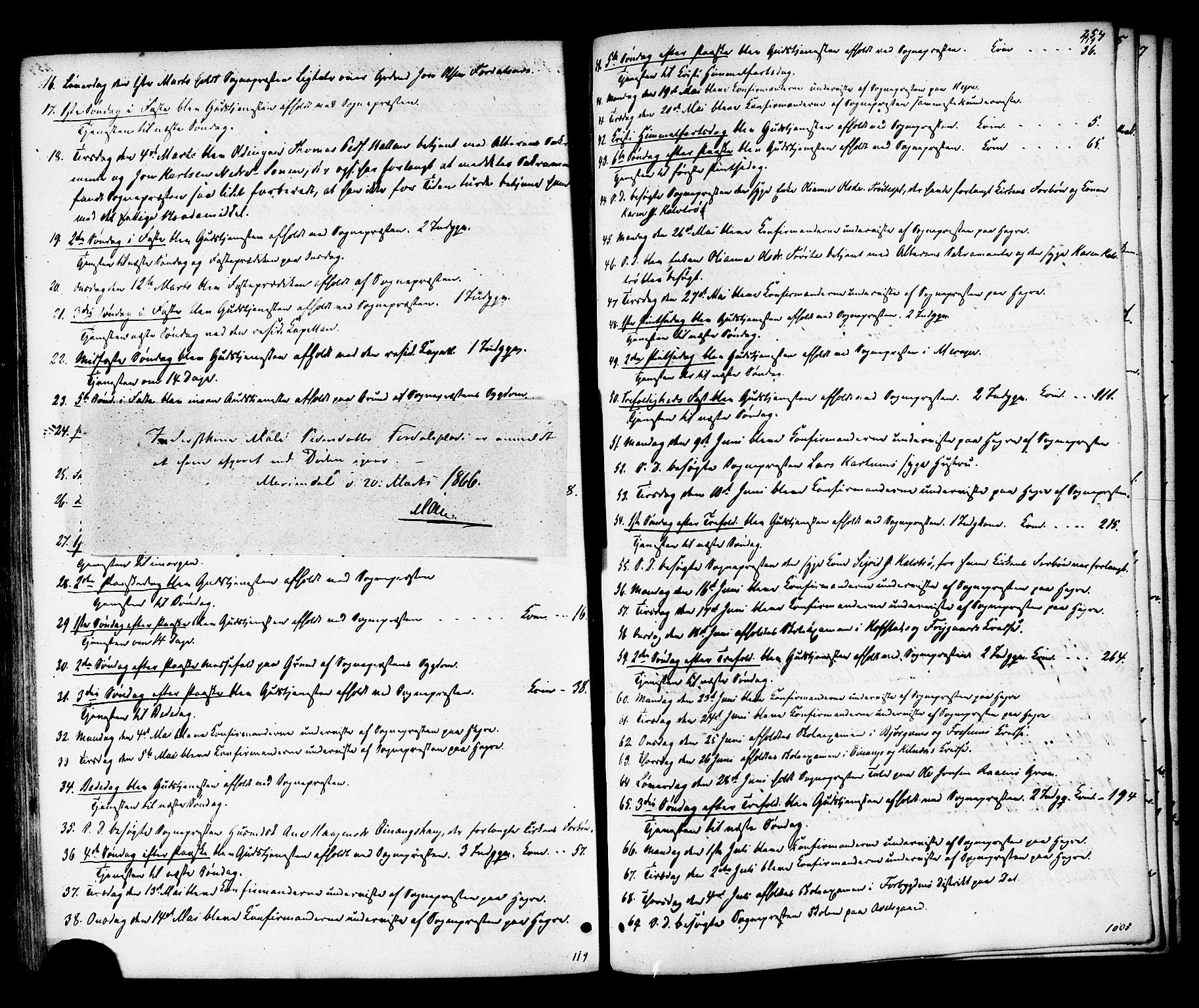 SAT, Ministerialprotokoller, klokkerbøker og fødselsregistre - Nord-Trøndelag, 703/L0029: Parish register (official) no. 703A02, 1863-1879, p. 254