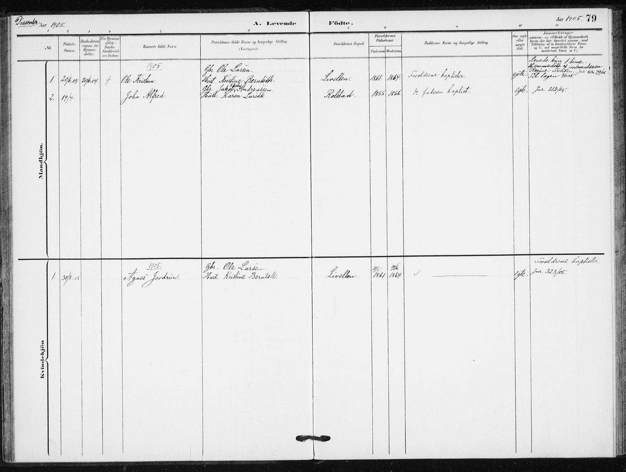 SATØ, Målselv sokneprestembete, G/Ga/Gaa/L0013kirke: Parish register (official) no. 13, 1903-1919, p. 79