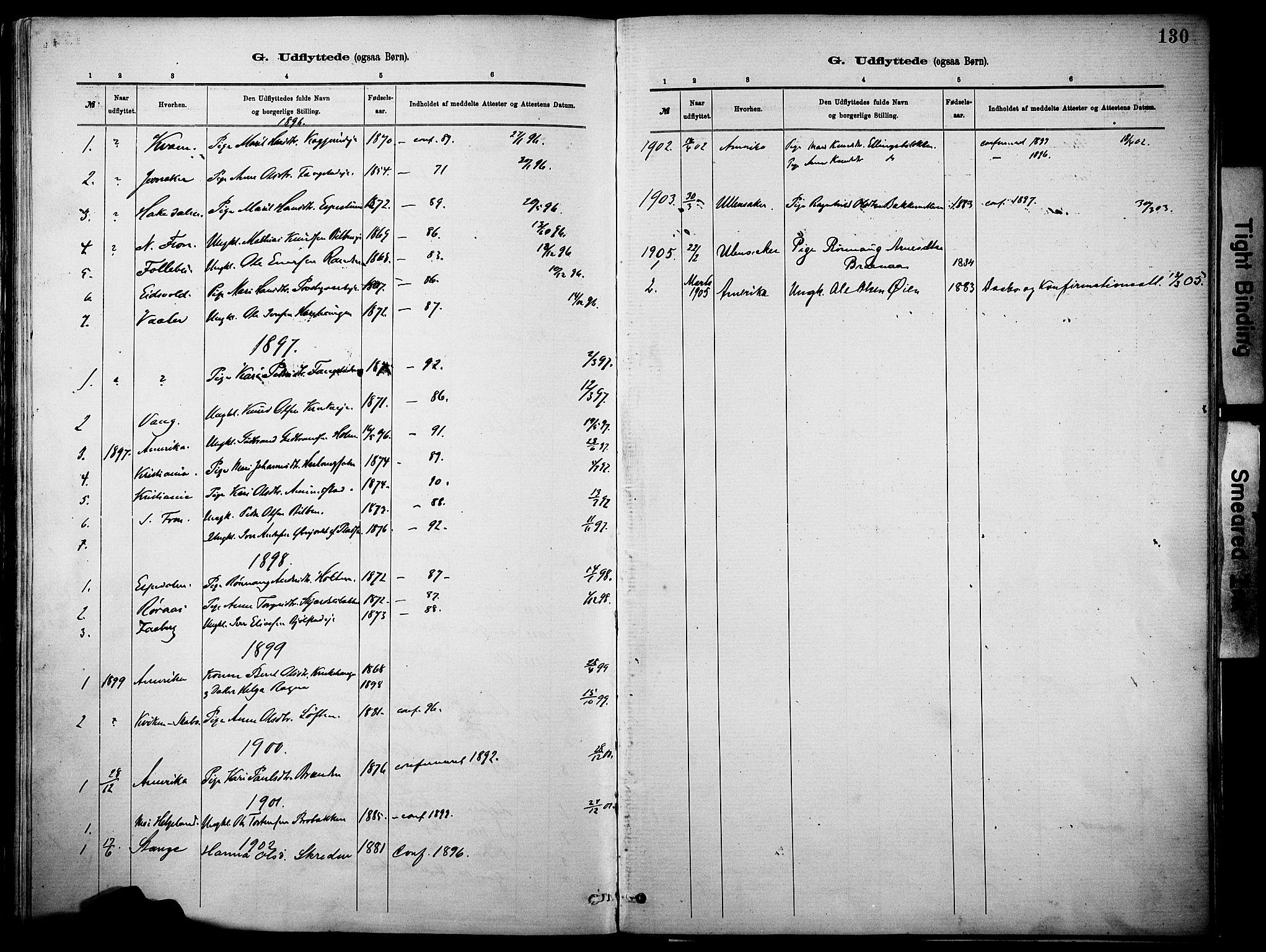 SAH, Vågå prestekontor, Parish register (official) no. 10, 1887-1904, p. 130