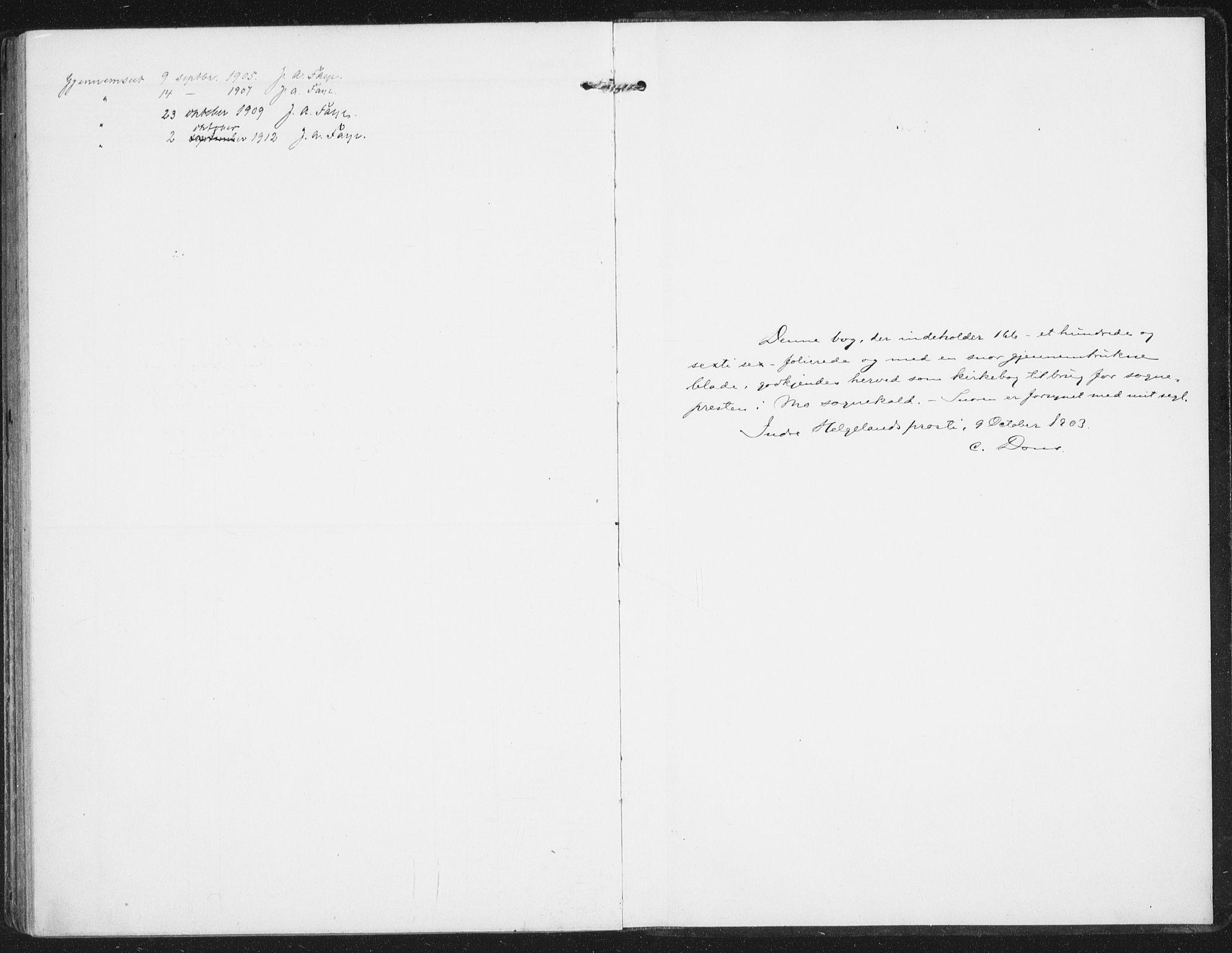 SAT, Ministerialprotokoller, klokkerbøker og fødselsregistre - Nordland, 827/L0402: Parish register (official) no. 827A14, 1903-1912