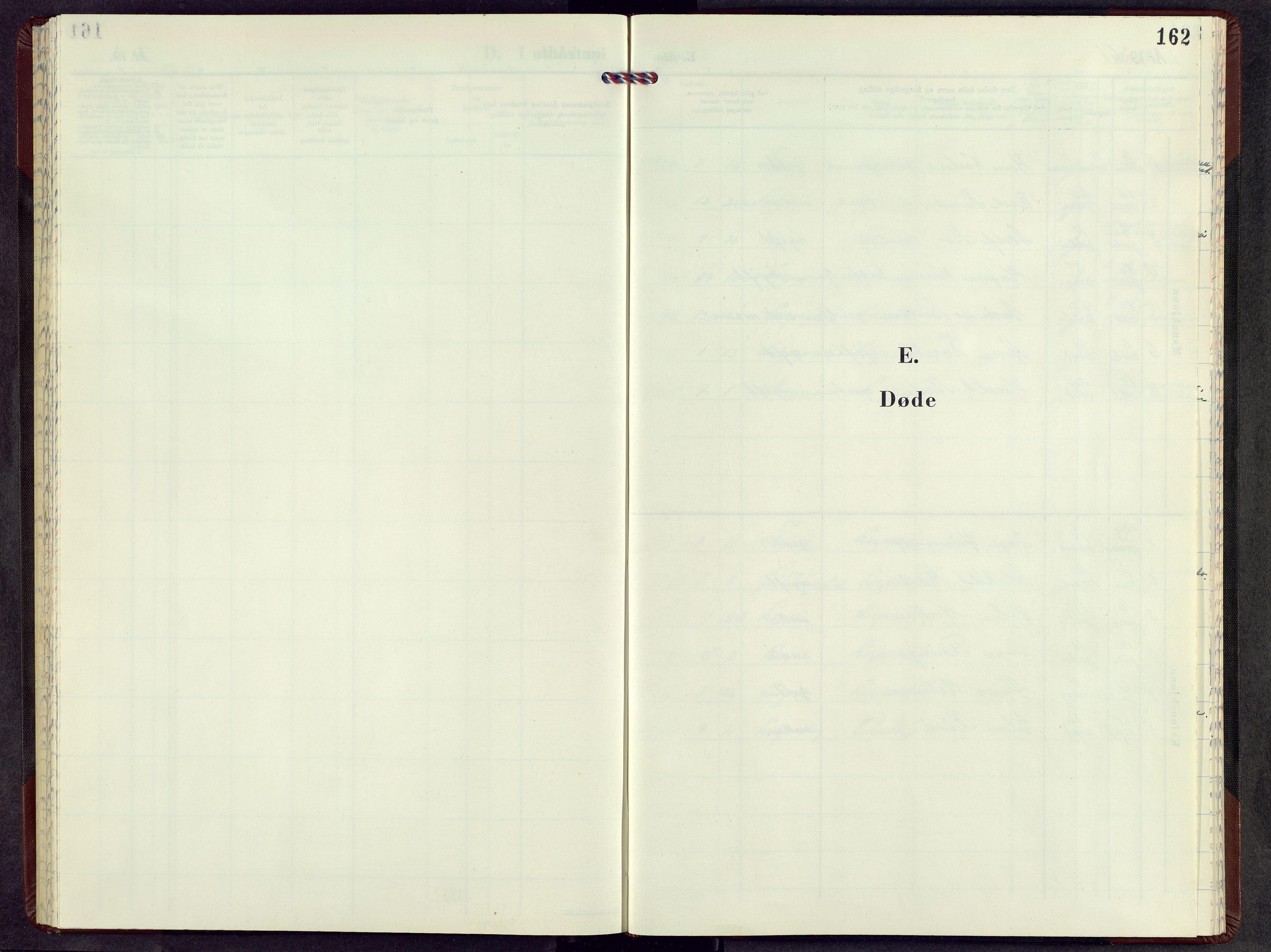 SAH, Lesja prestekontor, Parish register (copy) no. 12, 1961-1968, p. 162
