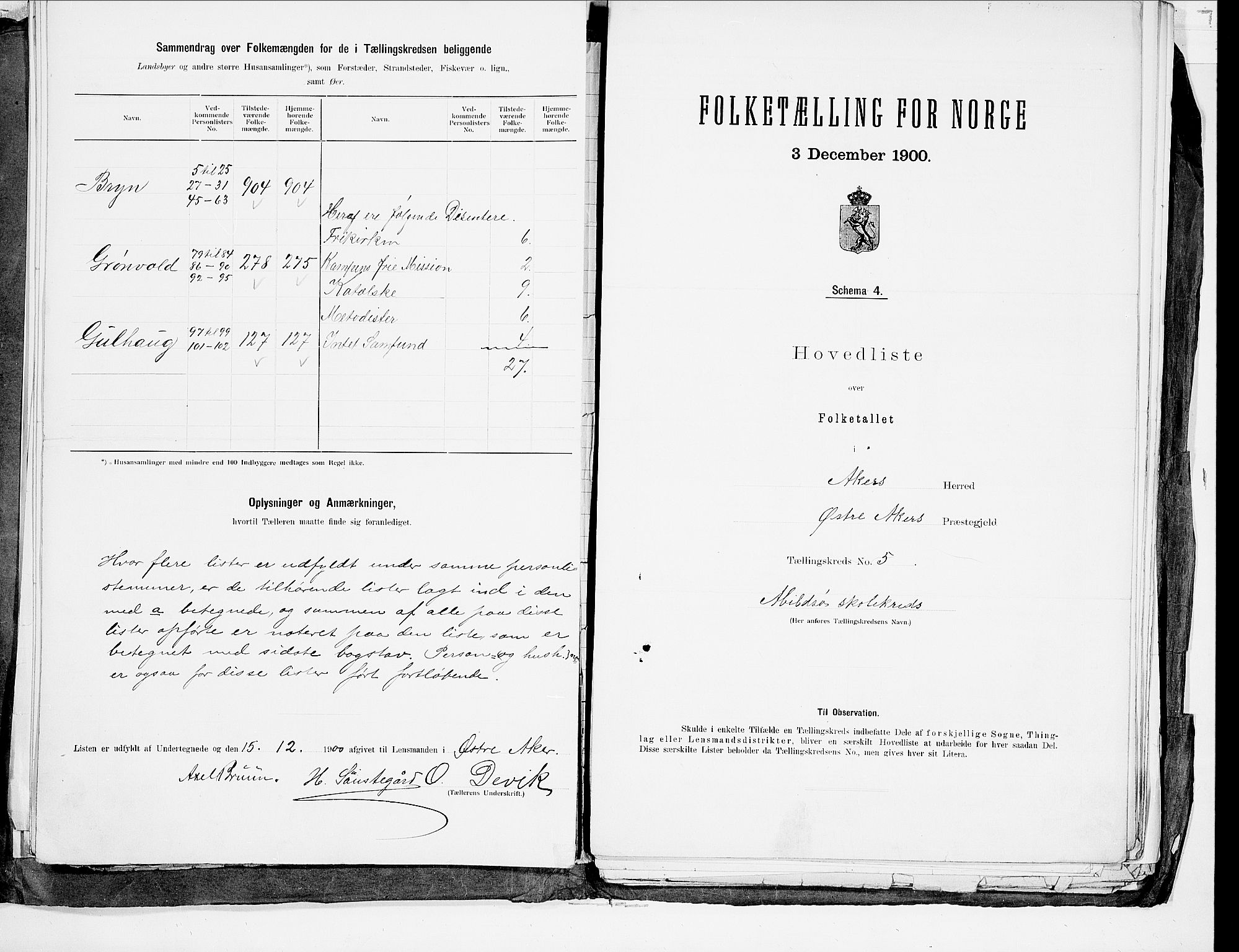 SAO, 1900 census for Aker, 1900, p. 21