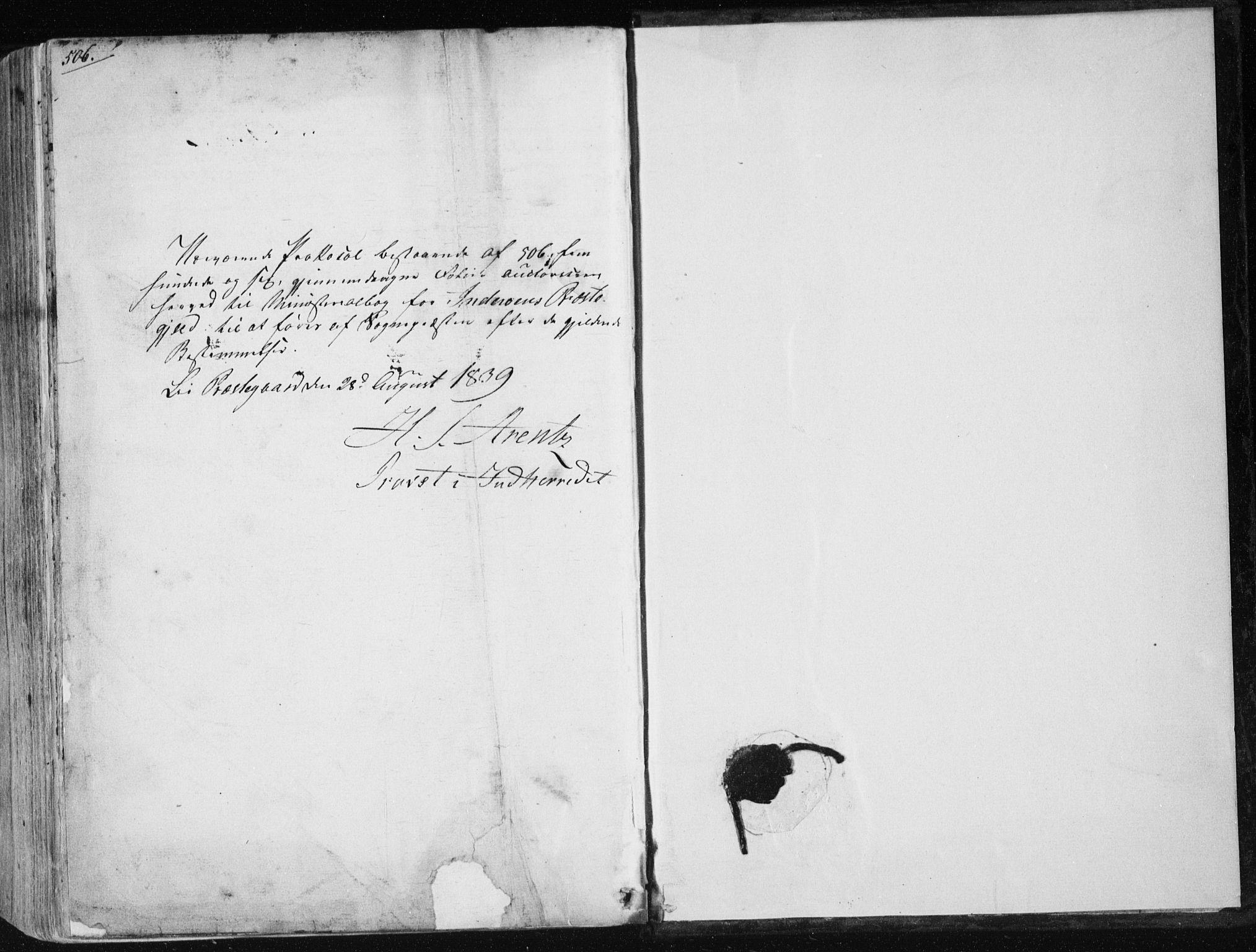 SAT, Ministerialprotokoller, klokkerbøker og fødselsregistre - Nord-Trøndelag, 730/L0280: Parish register (official) no. 730A07 /1, 1840-1854, p. 506