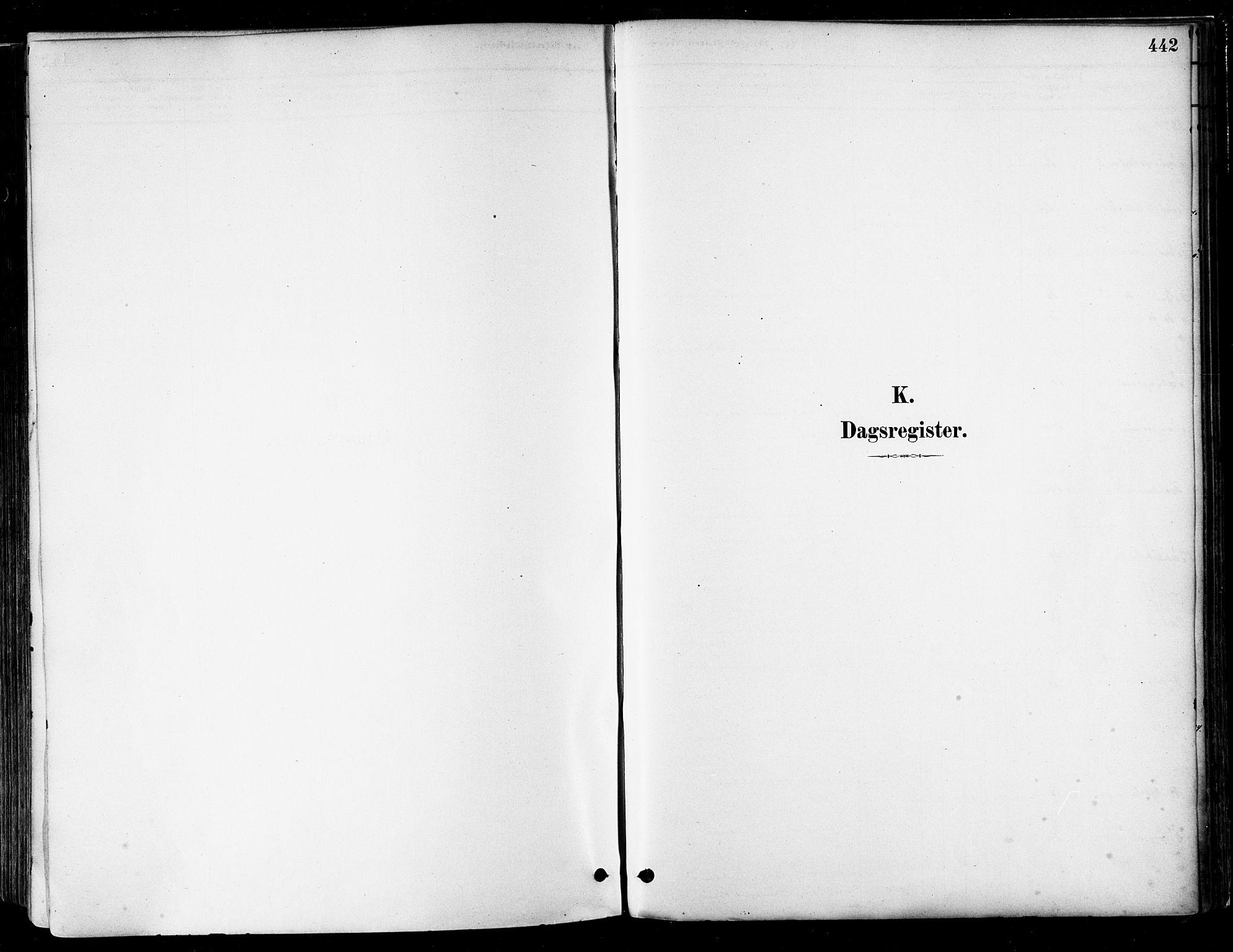 SAT, Ministerialprotokoller, klokkerbøker og fødselsregistre - Nordland, 802/L0054: Parish register (official) no. 802A01, 1879-1893, p. 442