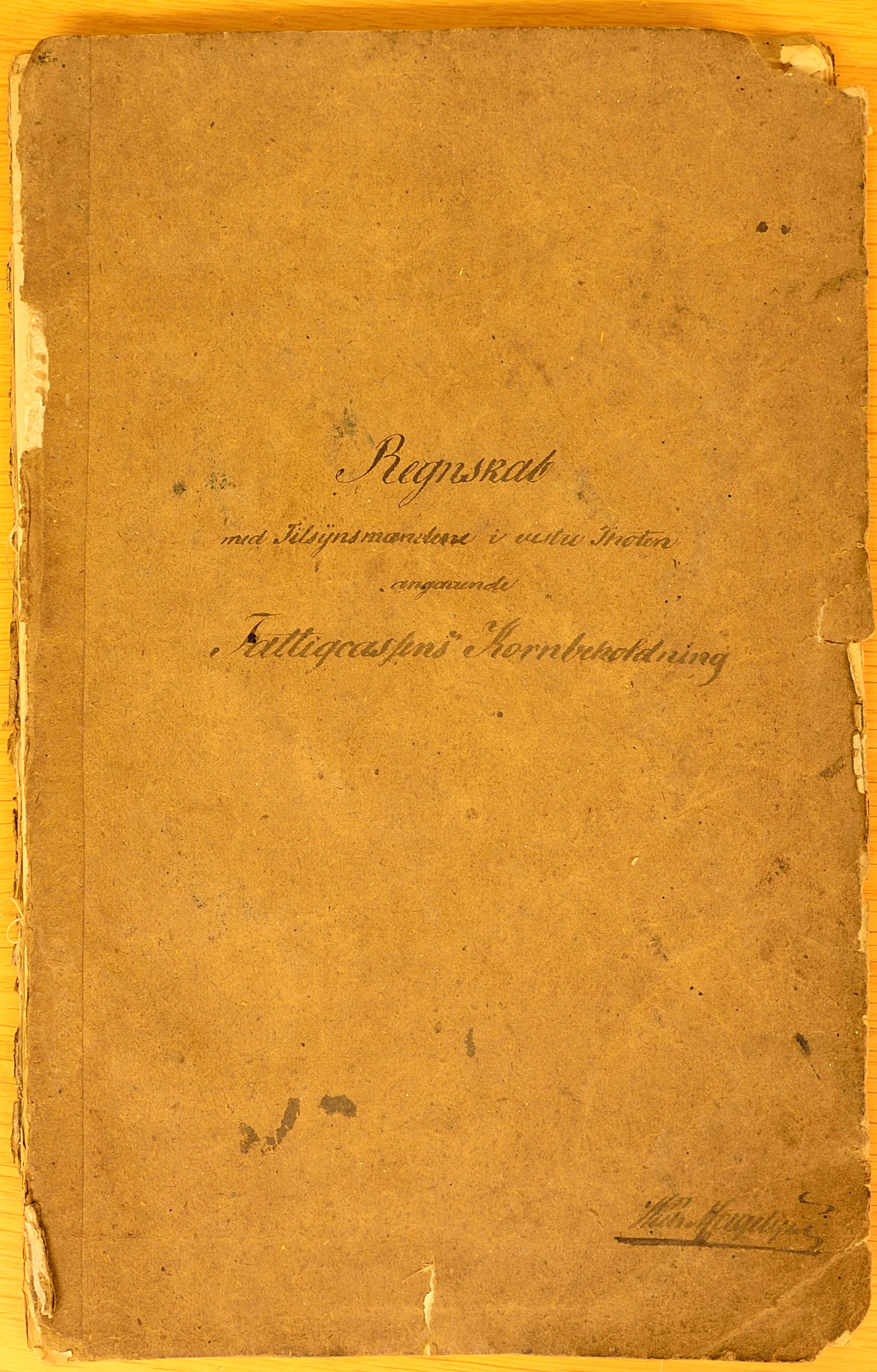 KVT, Vestre Toten kommunearkiv*, -: Regnskap over Vestre Toten fattigkasses kornbeholdning, 1850-1861
