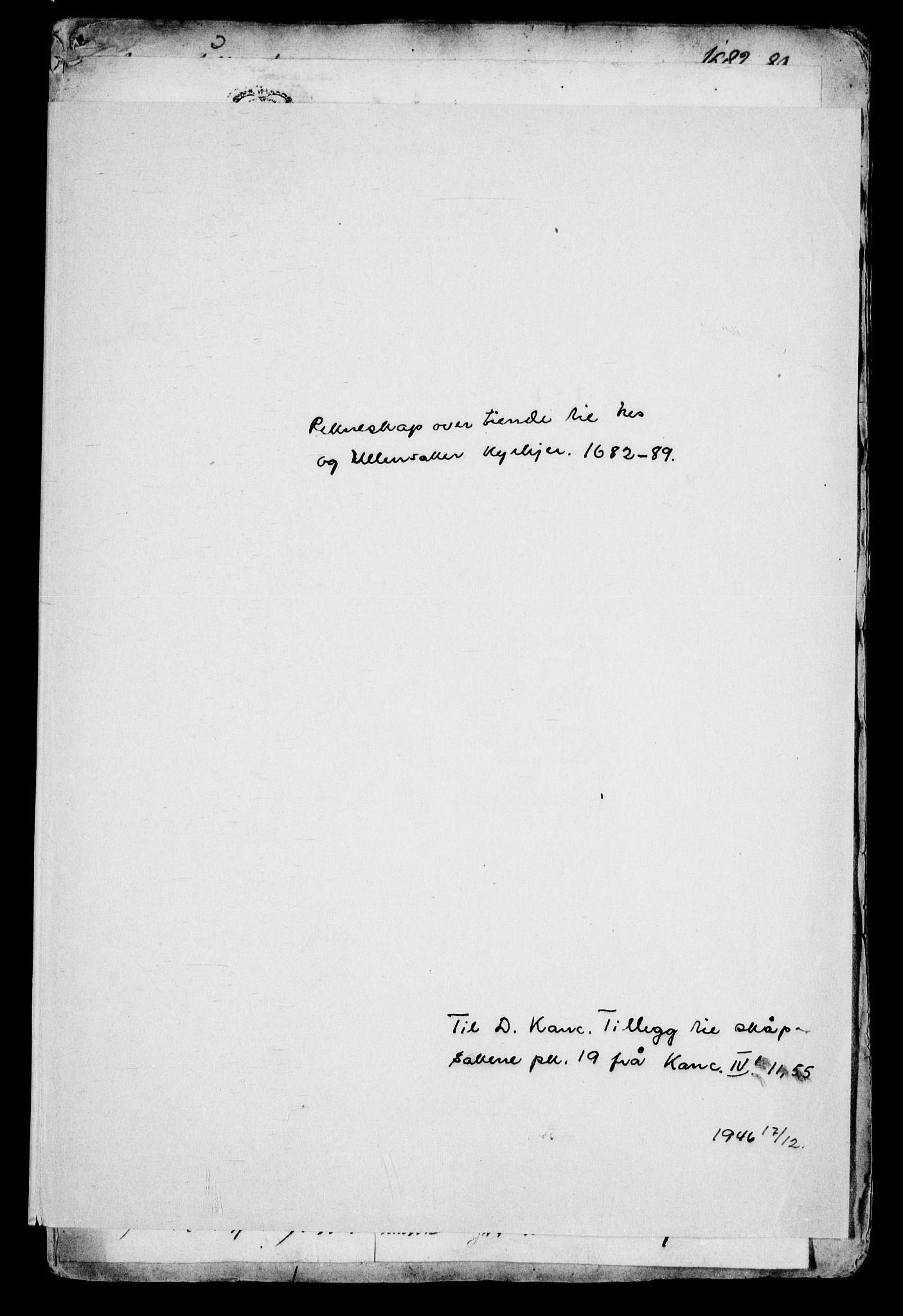 RA, Danske Kanselli, Skapsaker, G/L0019: Tillegg til skapsakene, 1616-1753, p. 242