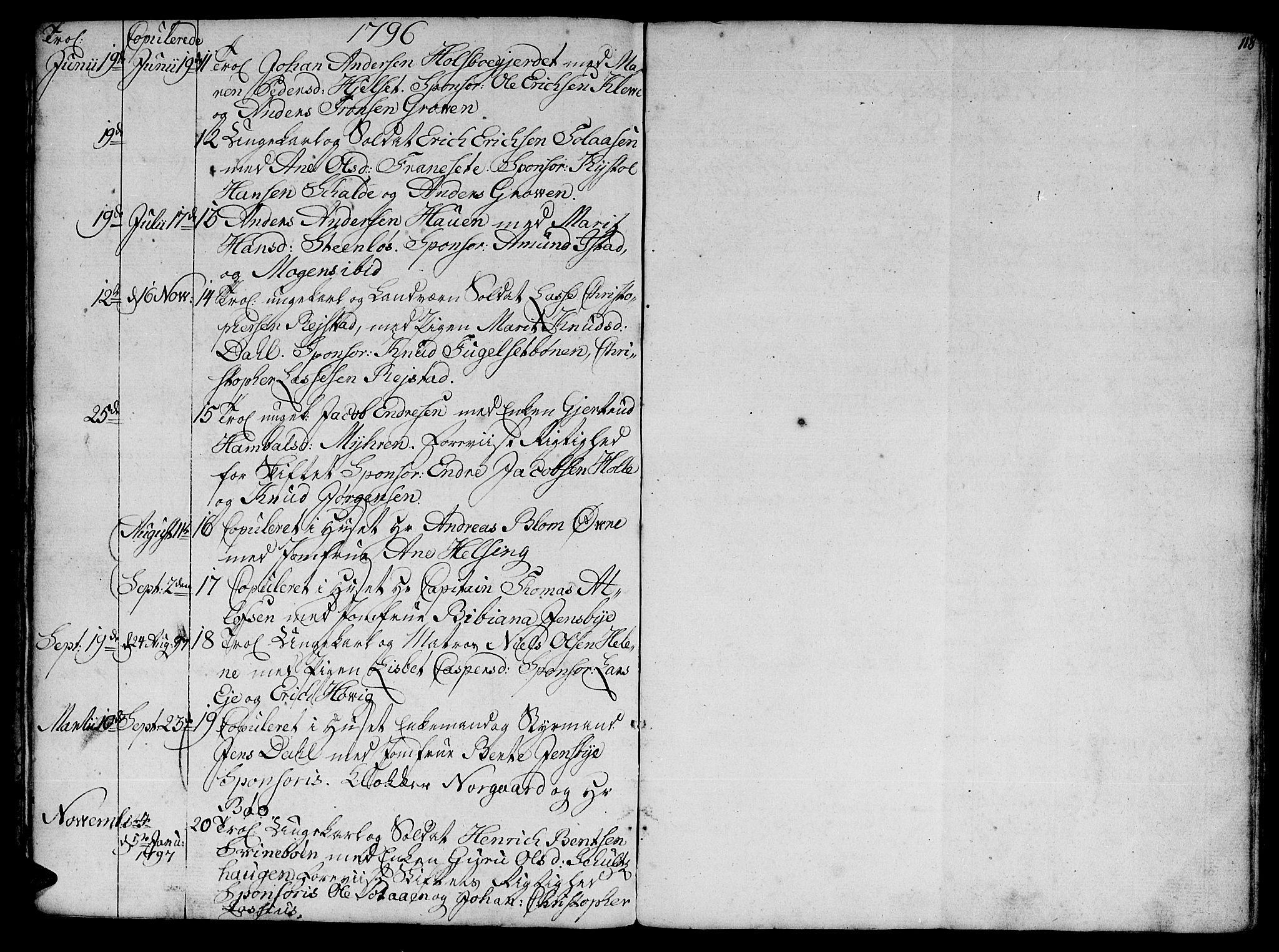 SAT, Ministerialprotokoller, klokkerbøker og fødselsregistre - Møre og Romsdal, 555/L0649: Parish register (official) no. 555A02 /1, 1795-1821, p. 118