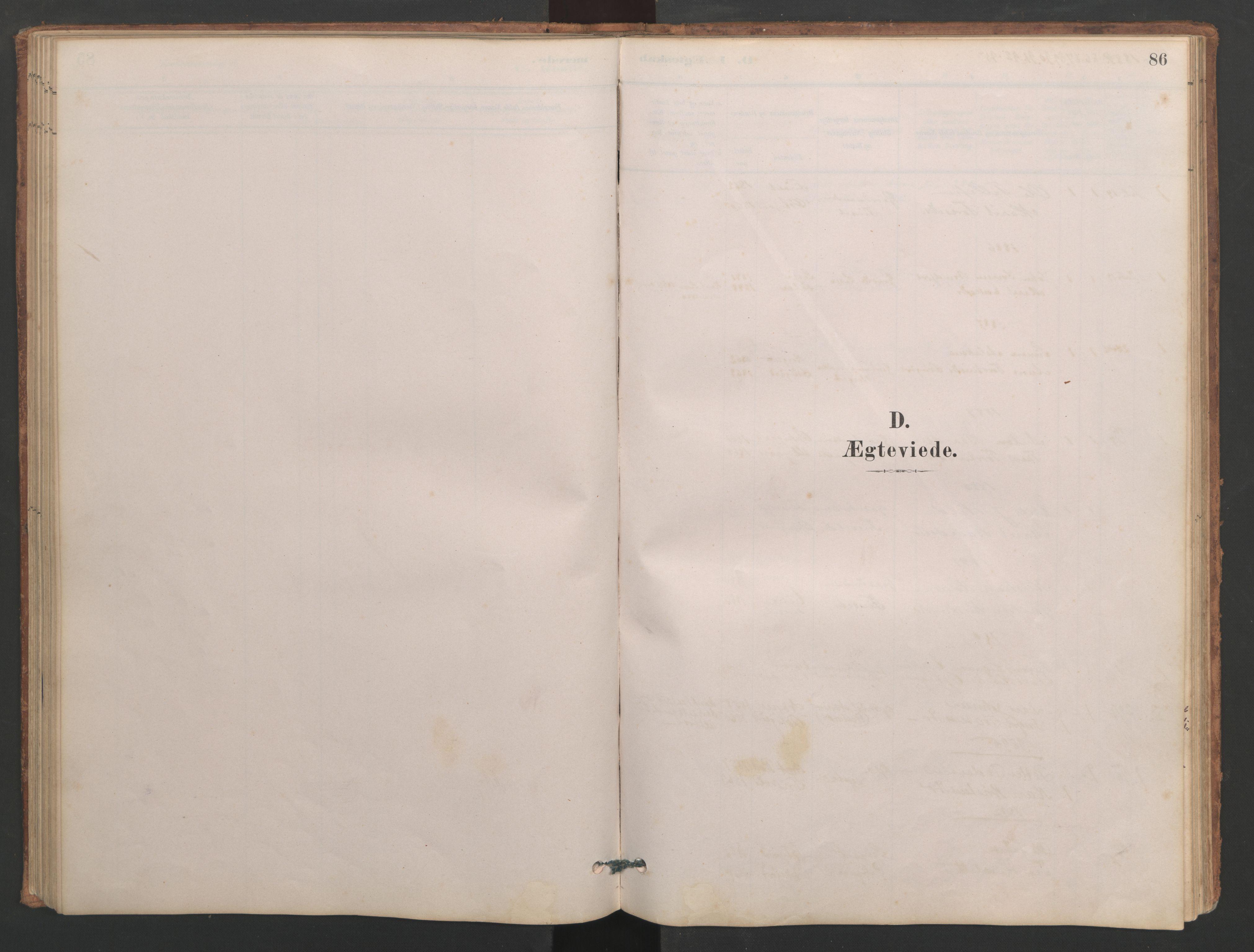 SAT, Ministerialprotokoller, klokkerbøker og fødselsregistre - Møre og Romsdal, 553/L0642: Parish register (copy) no. 553C01, 1880-1968, p. 86