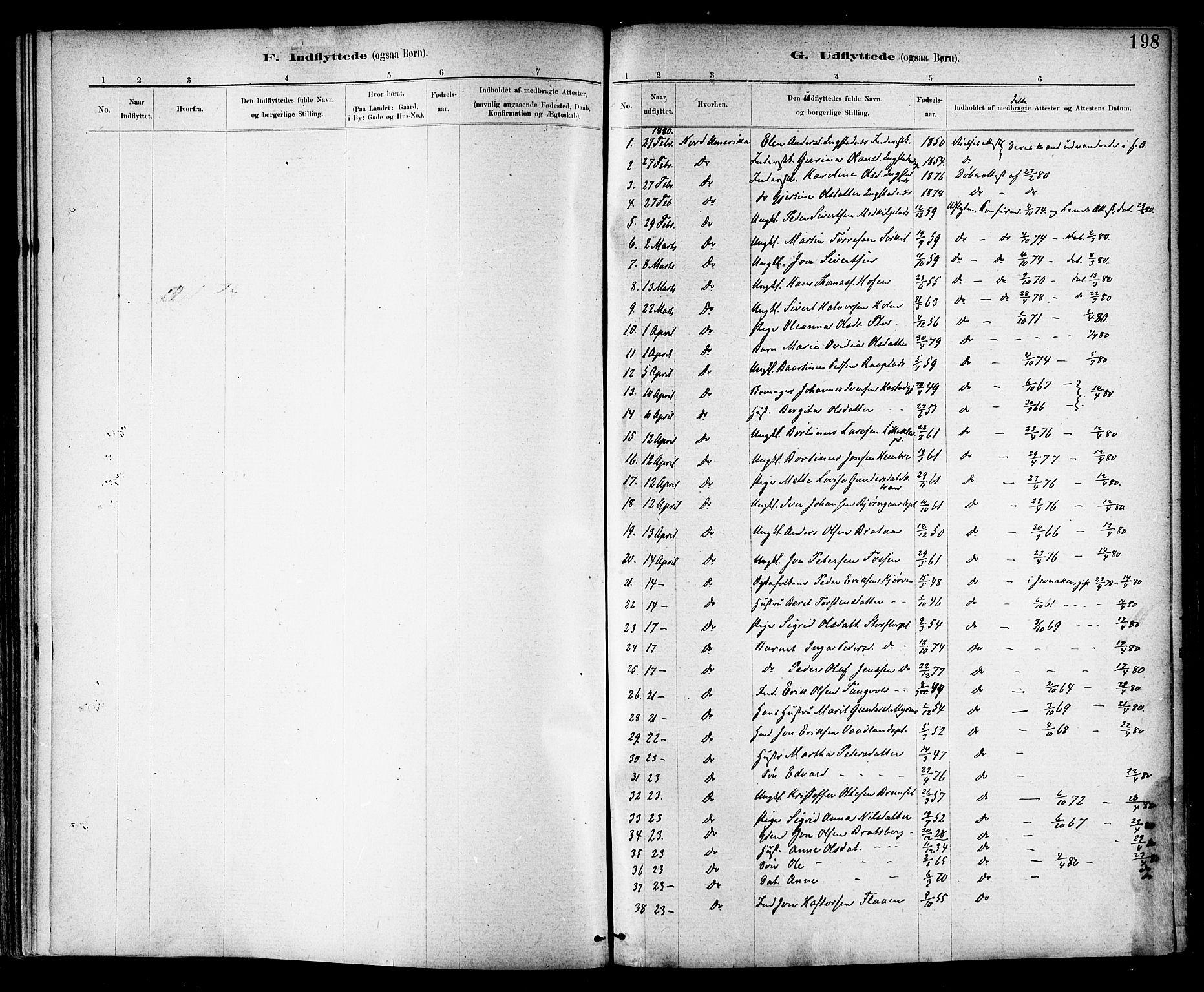 SAT, Ministerialprotokoller, klokkerbøker og fødselsregistre - Nord-Trøndelag, 703/L0030: Parish register (official) no. 703A03, 1880-1892, p. 198