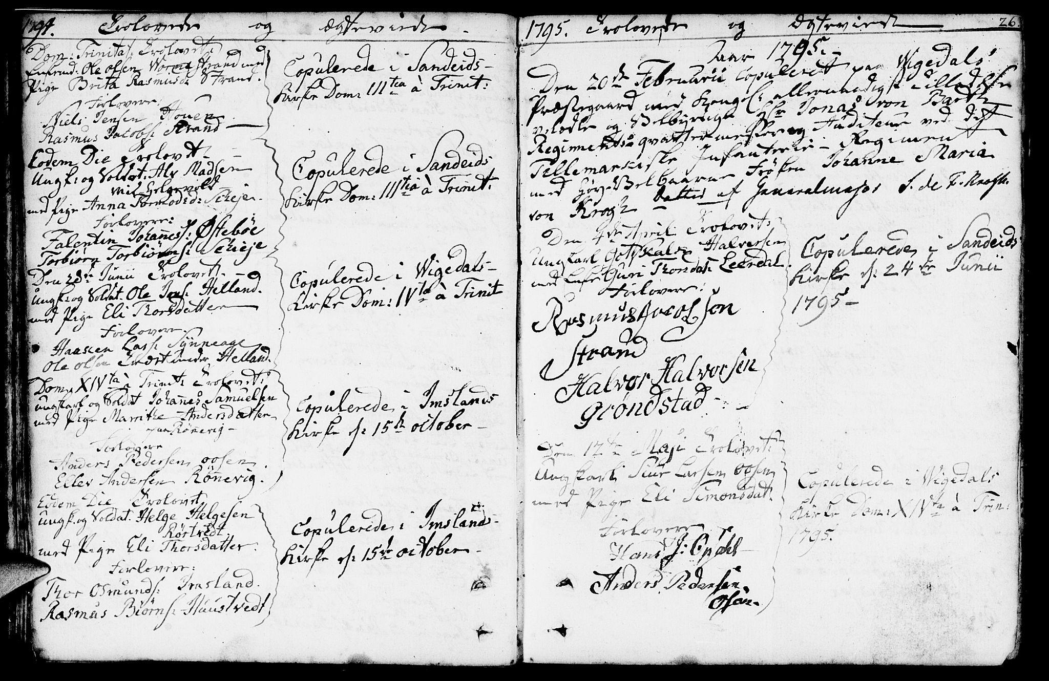 SAST, Vikedal sokneprestkontor, IV: Parish register (official) no. A 2, 1779-1817, p. 26