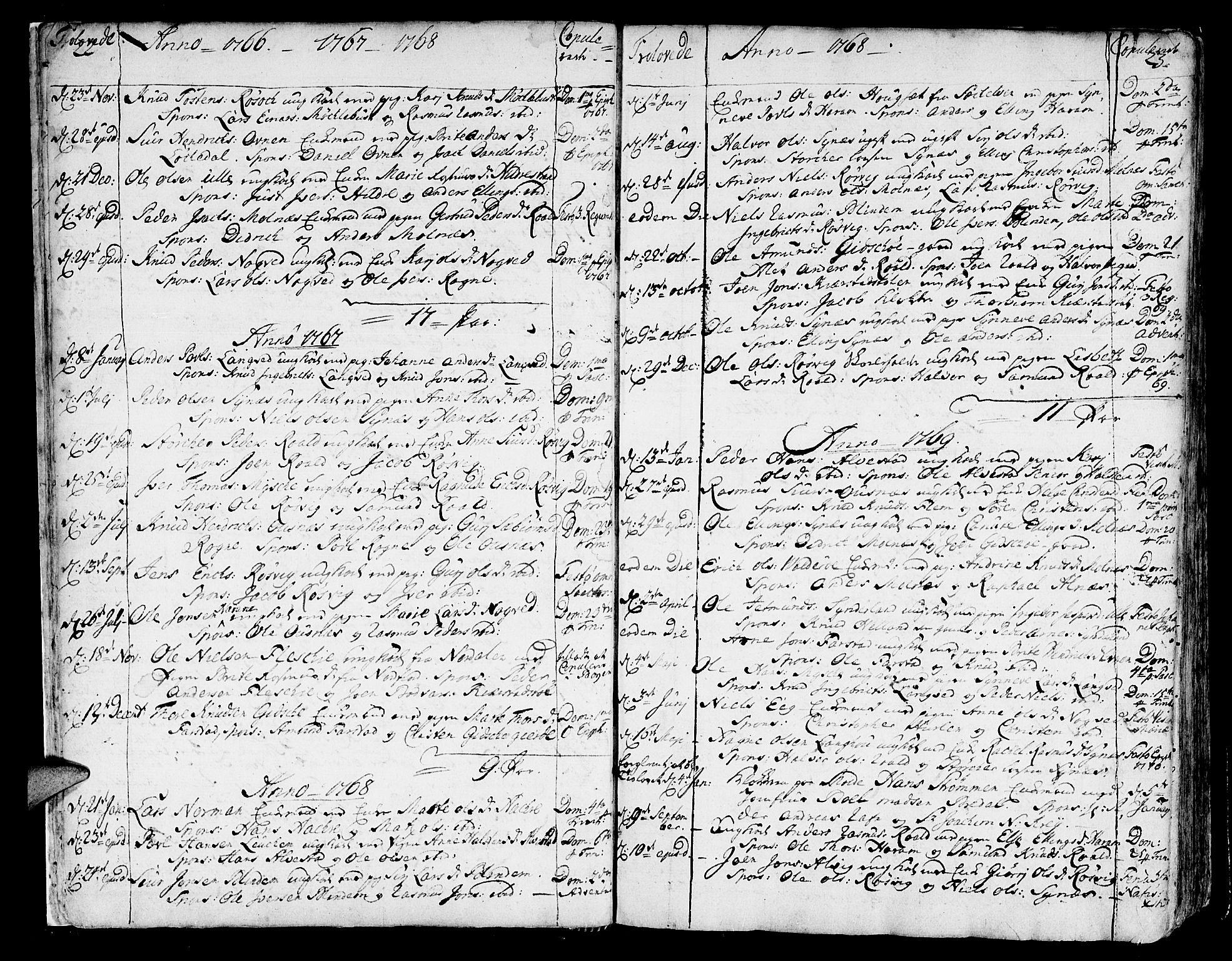 SAT, Ministerialprotokoller, klokkerbøker og fødselsregistre - Møre og Romsdal, 536/L0493: Parish register (official) no. 536A02, 1739-1802, p. 22-23