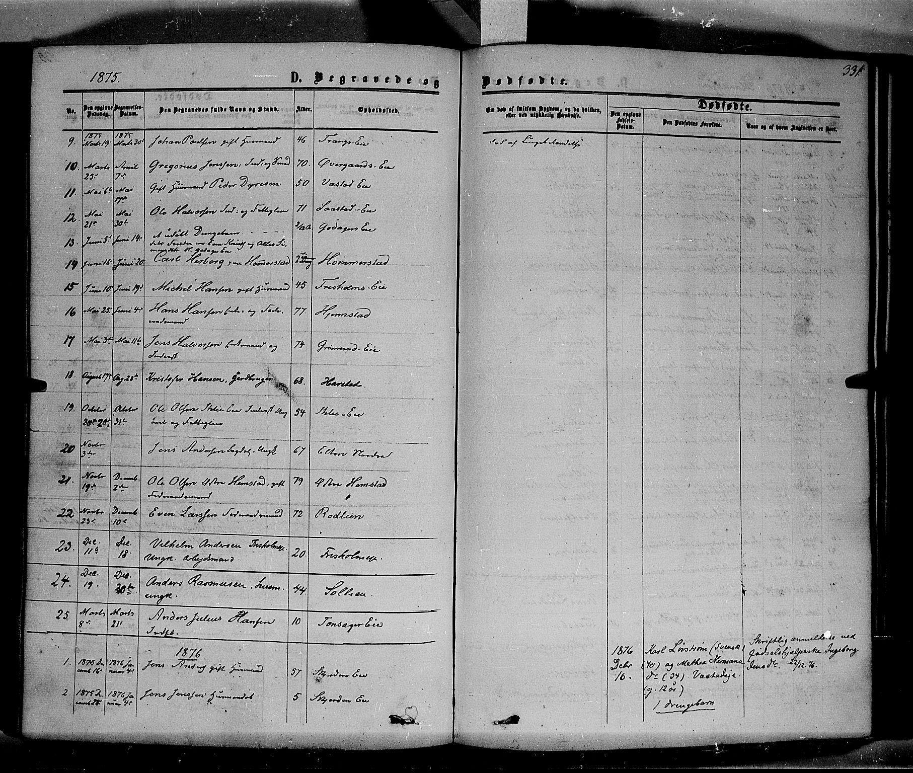 SAH, Stange prestekontor, K/L0013: Parish register (official) no. 13, 1862-1879, p. 331