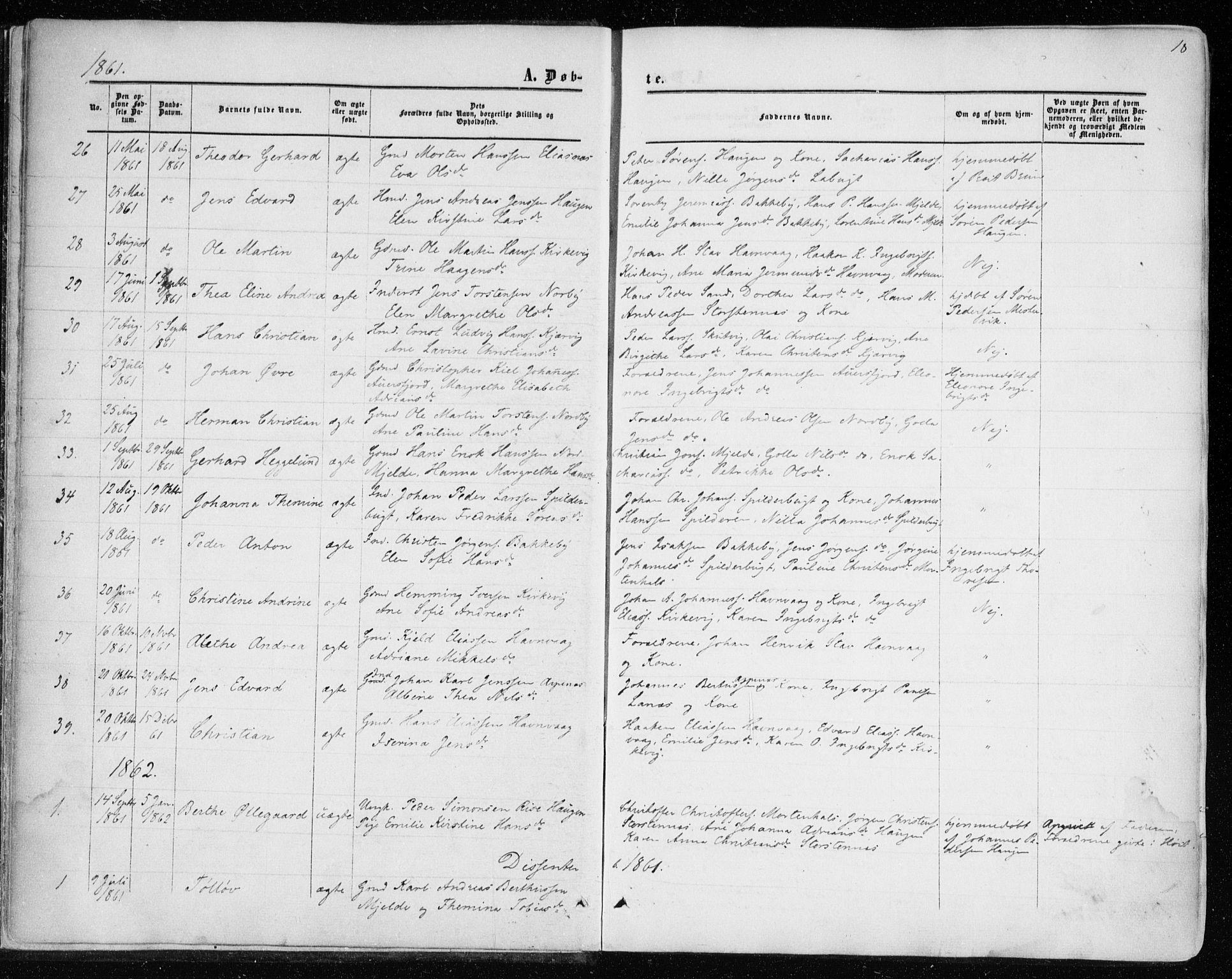 SATØ, Balsfjord sokneprestembete, Parish register (official) no. 1, 1858-1870, p. 18