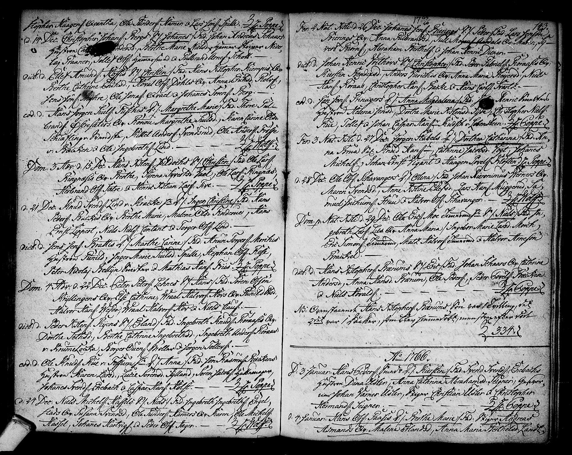 SAKO, Kongsberg kirkebøker, F/Fa/L0004: Parish register (official) no. I 4, 1756-1768, p. 143
