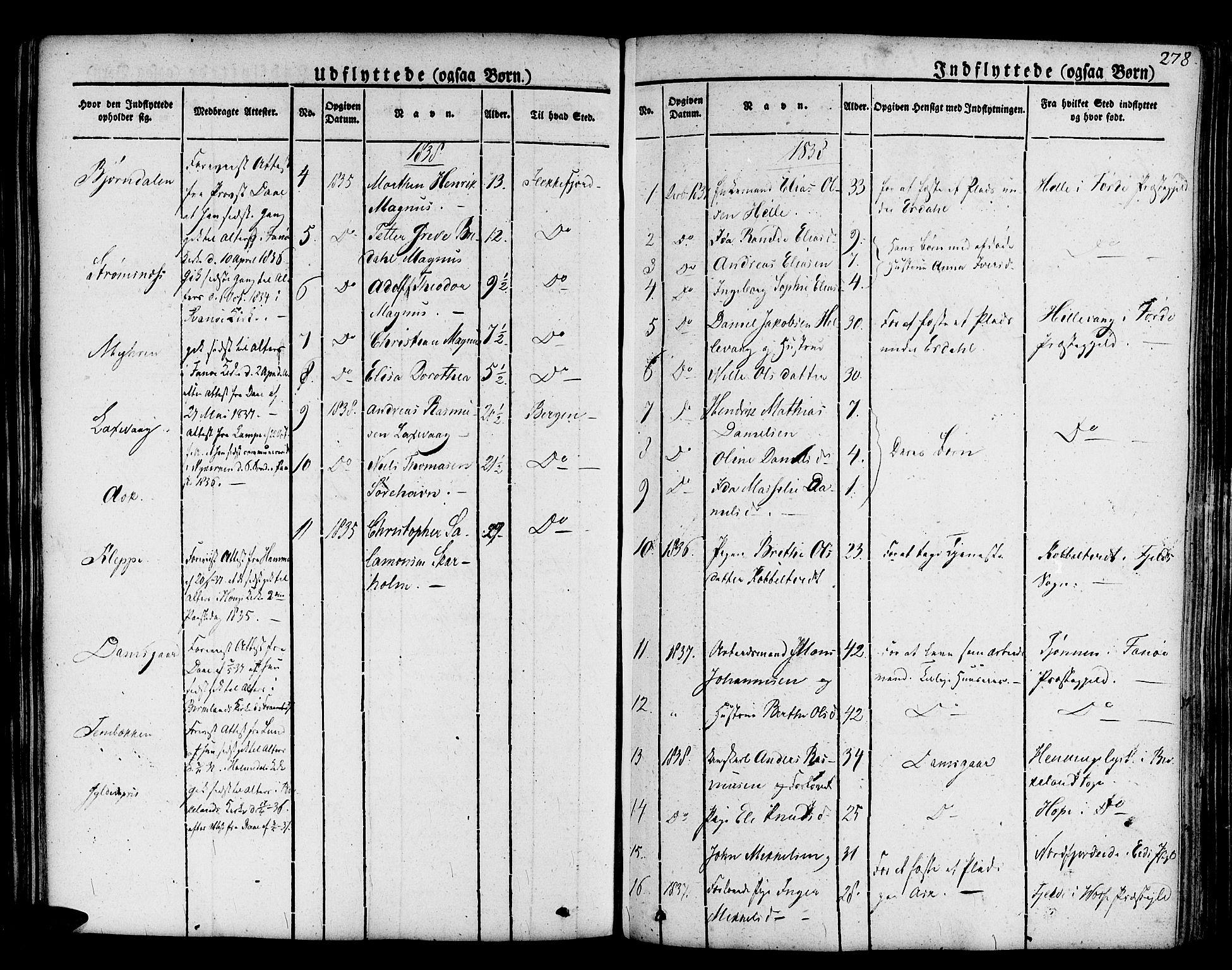 SAB, Askøy Sokneprestembete, H/Ha/Haa/Haaa/L0004: Parish register (official) no. A 4, 1825-1845, p. 278