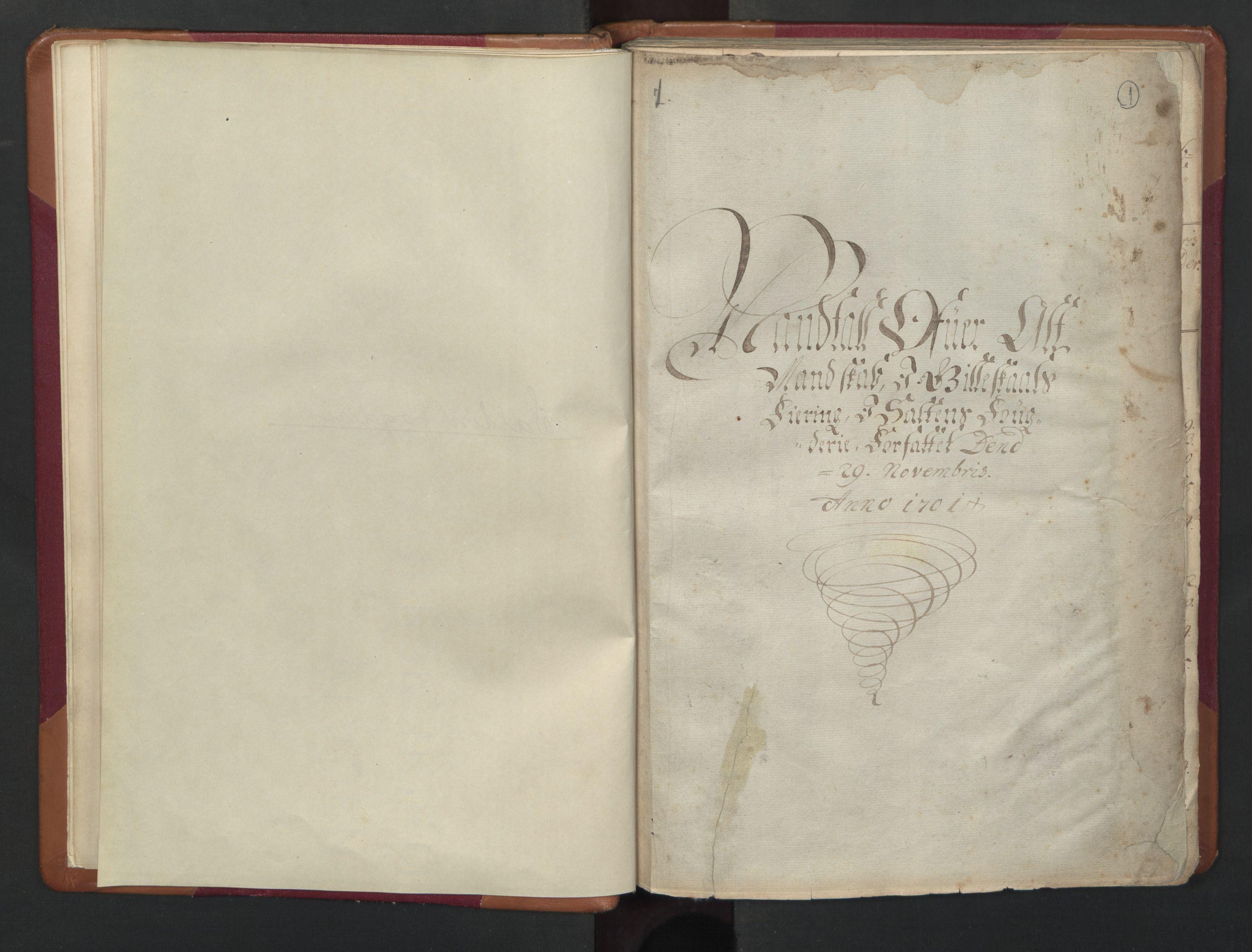 RA, Census (manntall) 1701, no. 17: Salten fogderi, 1701, p. 1