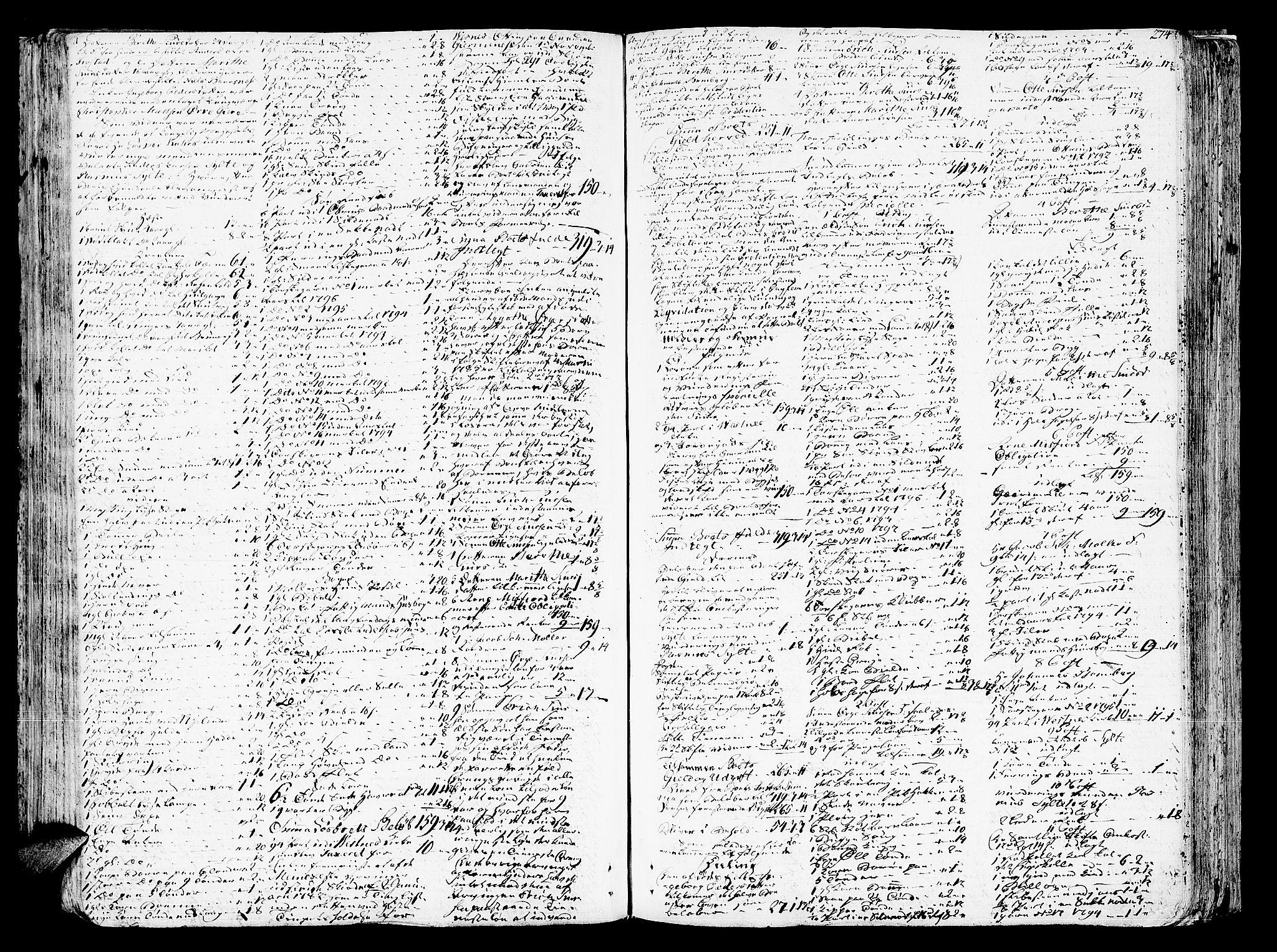 SAT, Romsdal sorenskriveri, 3/3A/L0012: Skifteprotokoll, 1789-1802, p. 273b-274a