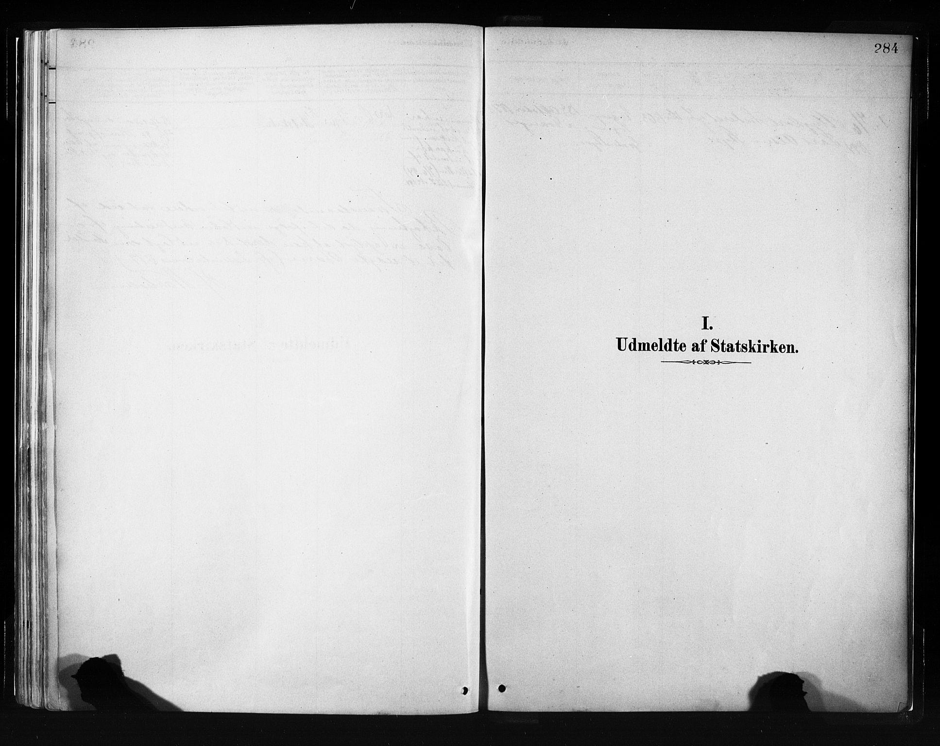 SAB, Evanger sokneprestembete*, Parish register (official) no. A 1, 1877-1899, p. 284