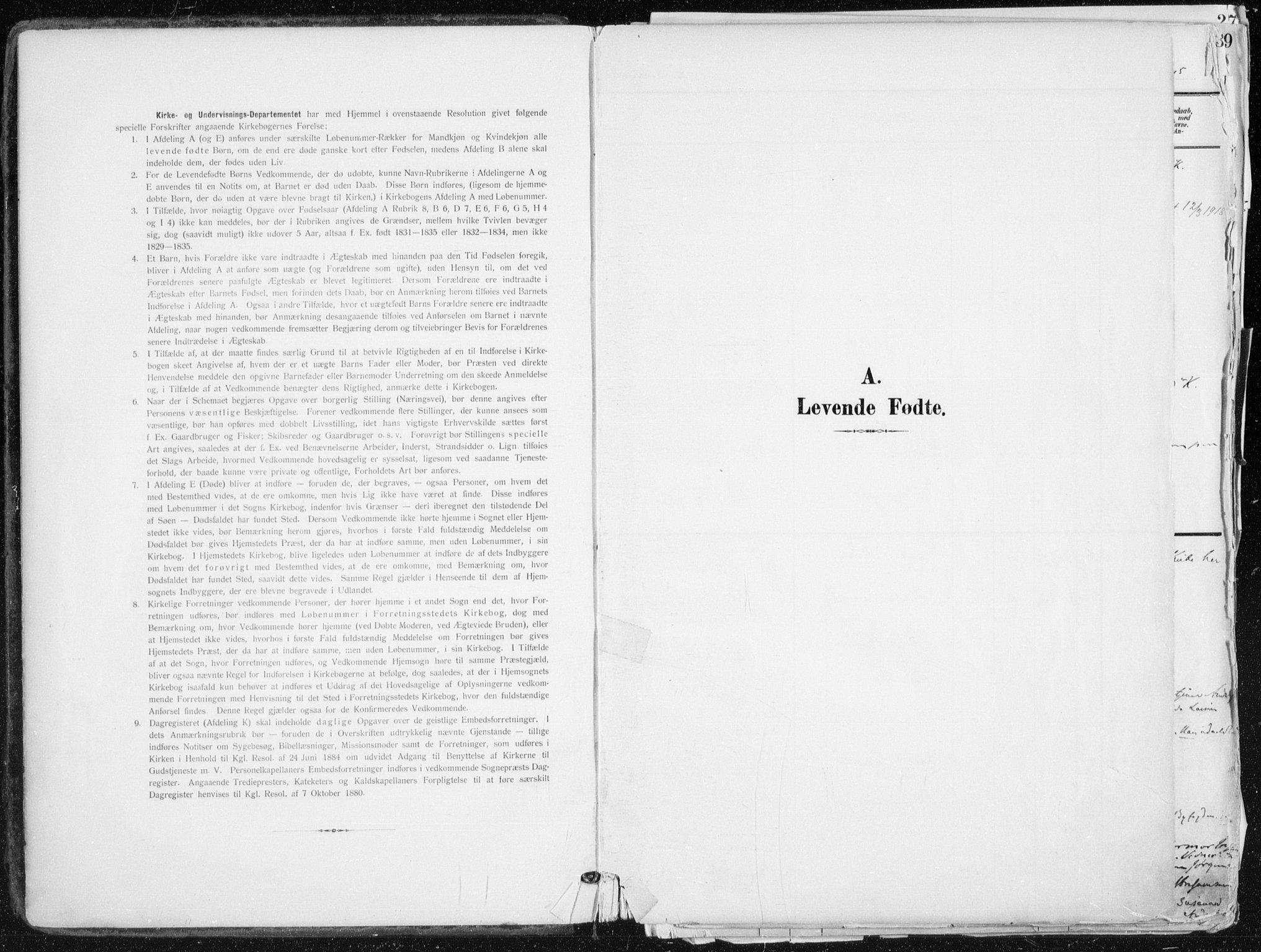 SAO, Kampen prestekontor Kirkebøker, F/Fa/L0010: Parish register (official) no. I 10, 1905-1917