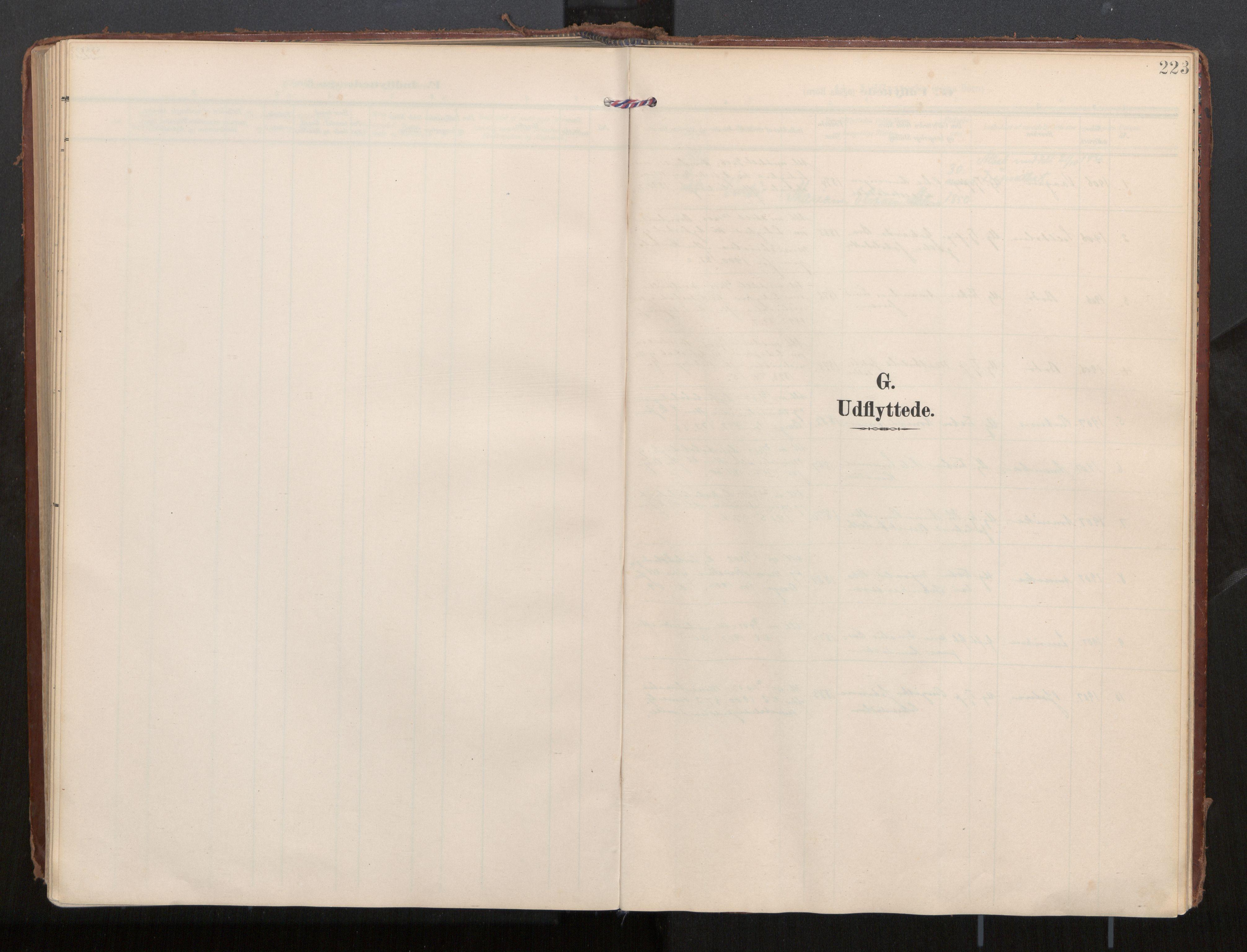 SAT, Ministerialprotokoller, klokkerbøker og fødselsregistre - Nordland, 884/L1194: Parish register (official) no. 884A02, 1906-1937, p. 223