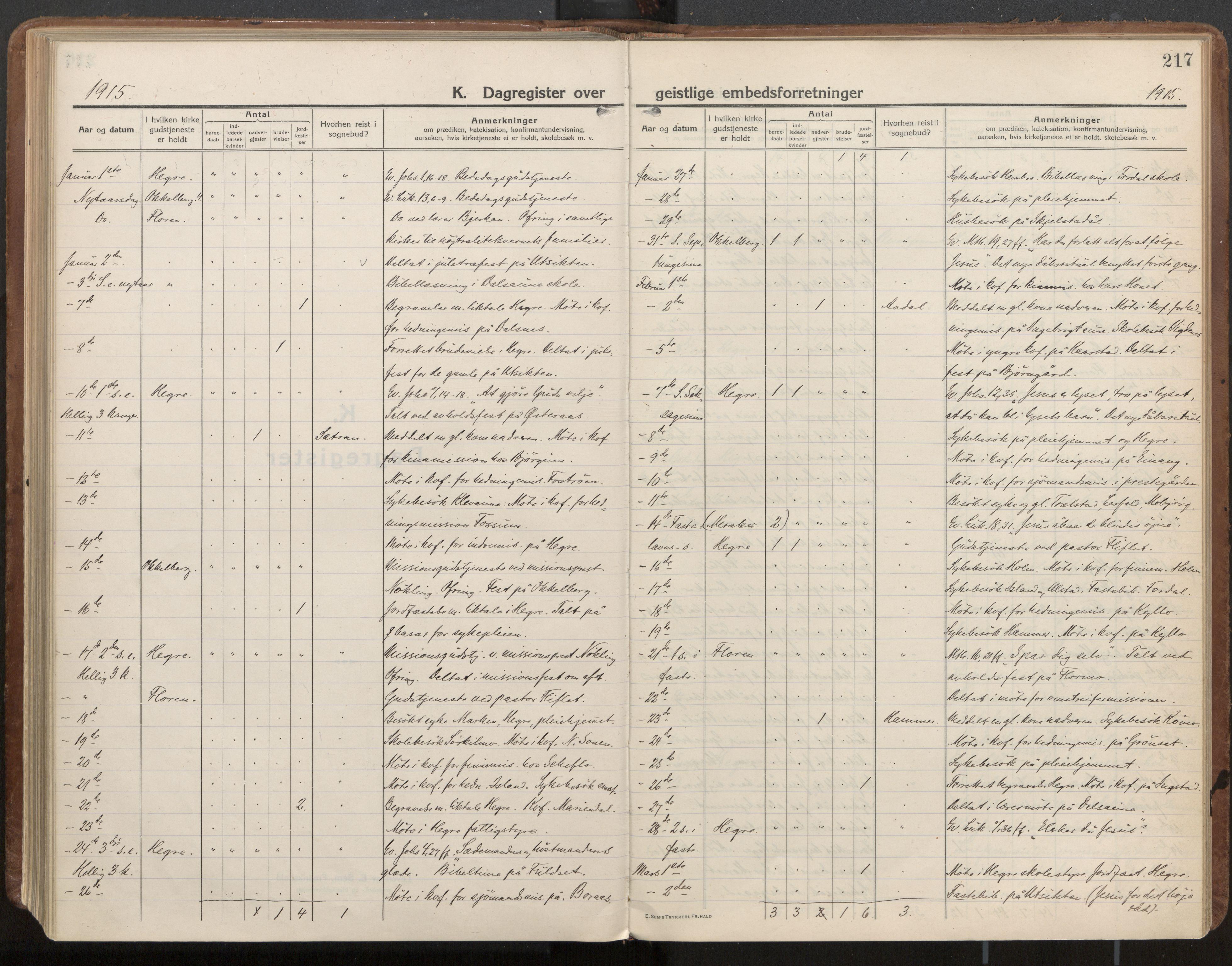 SAT, Ministerialprotokoller, klokkerbøker og fødselsregistre - Nord-Trøndelag, 703/L0037: Parish register (official) no. 703A10, 1915-1932, p. 217
