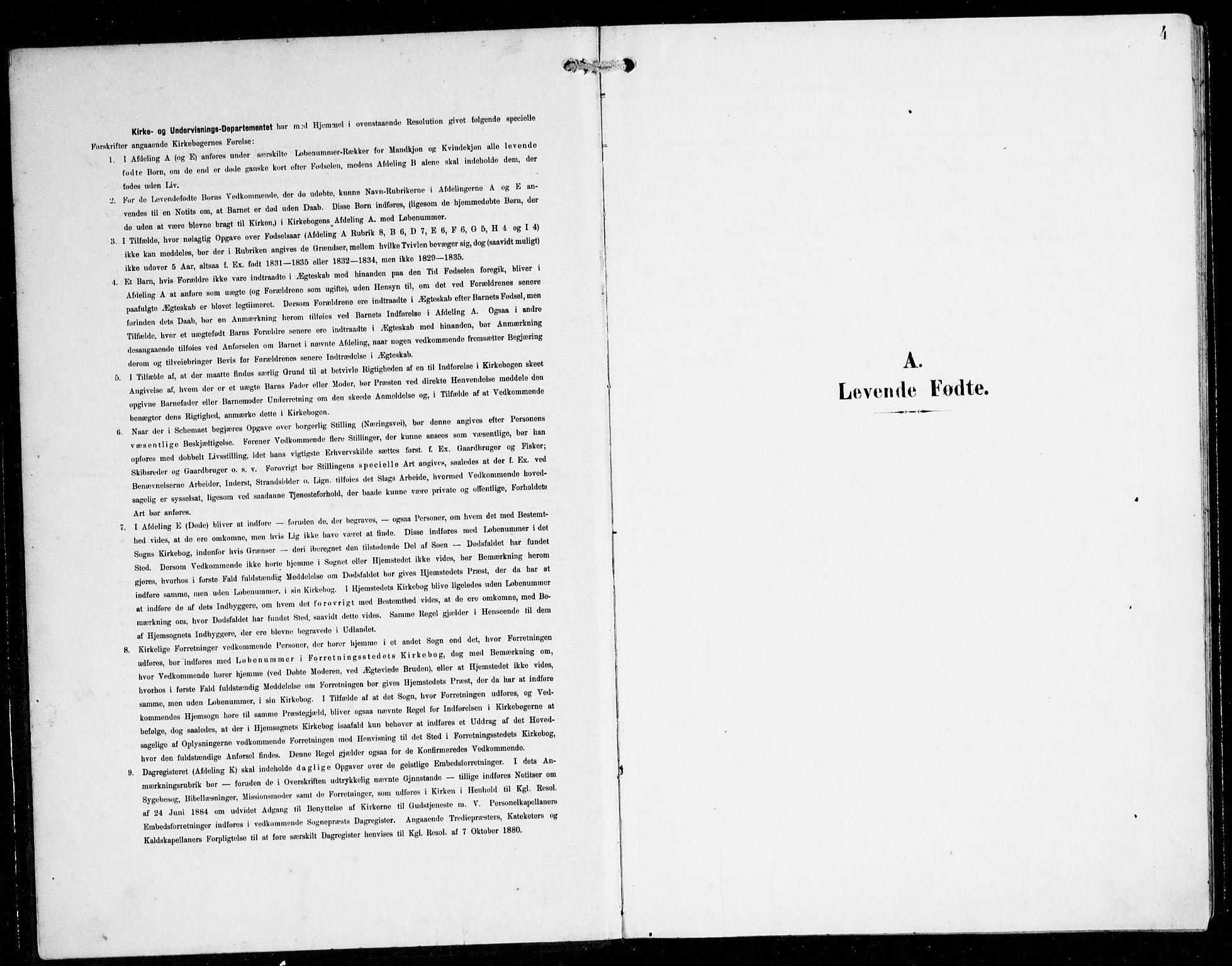 SAB, Herdla Sokneprestembete, H/Hab: Parish register (copy) no. C 1, 1900-1913, p. 4