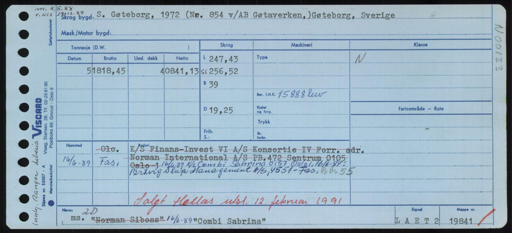 RA, Sjøfartsdirektoratet med forløpere, Skipsmålingen, H/Hd/L0008: Fartøy, C-D, p. 115