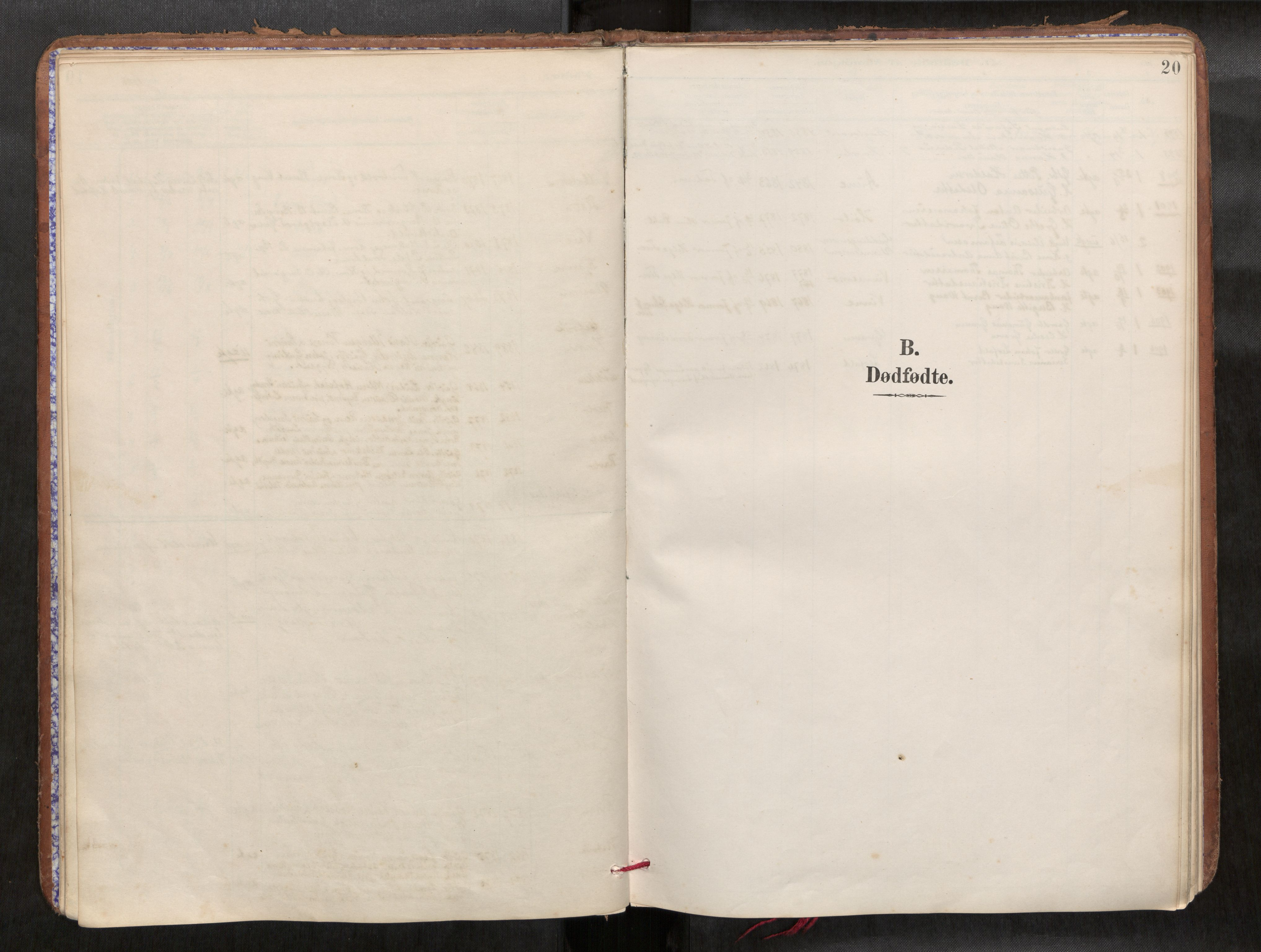 SAT, Verdal sokneprestkontor*, Parish register (official) no. 1, 1891-1907, p. 20