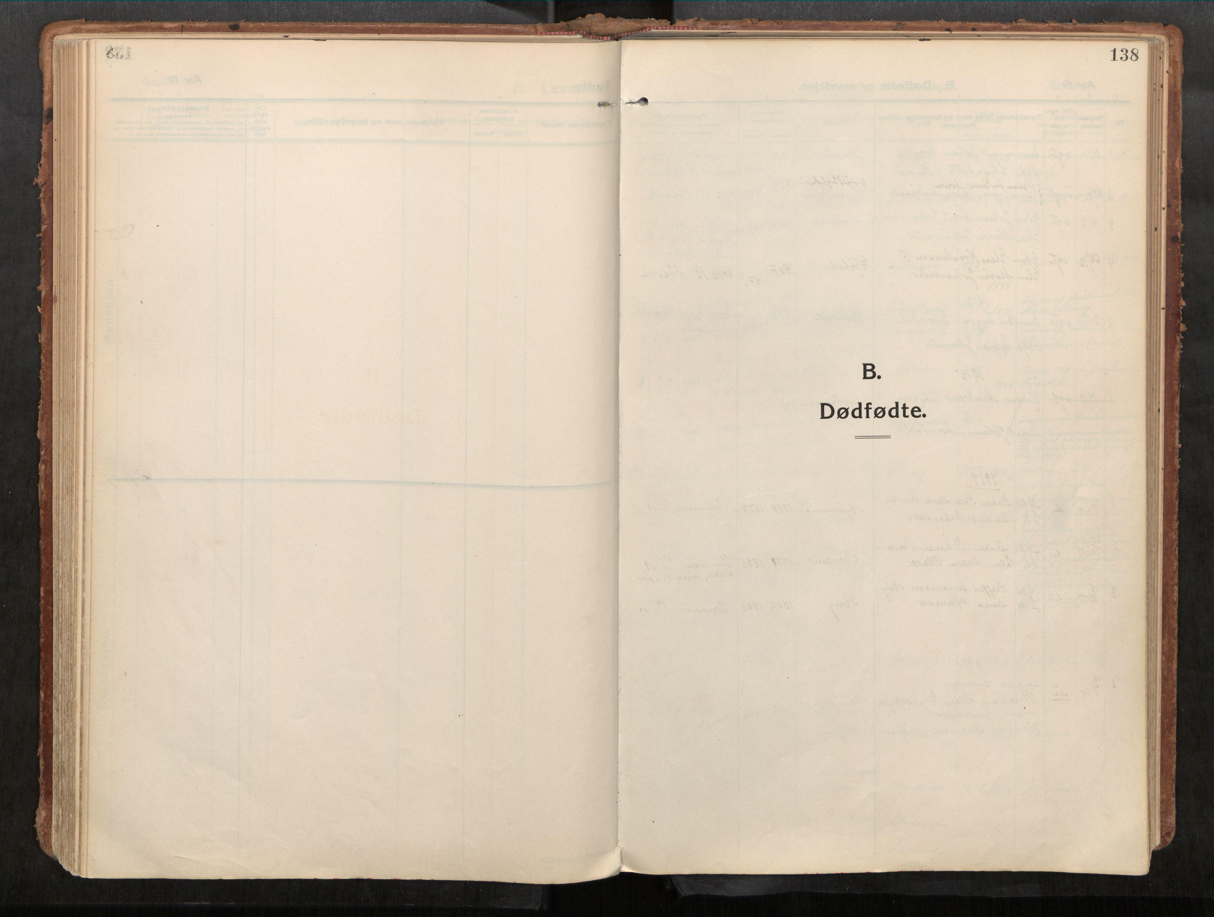 SAT, Stadsbygd sokneprestkontor, I/I1/I1a/L0001: Parish register (official) no. 1, 1911-1929, p. 138