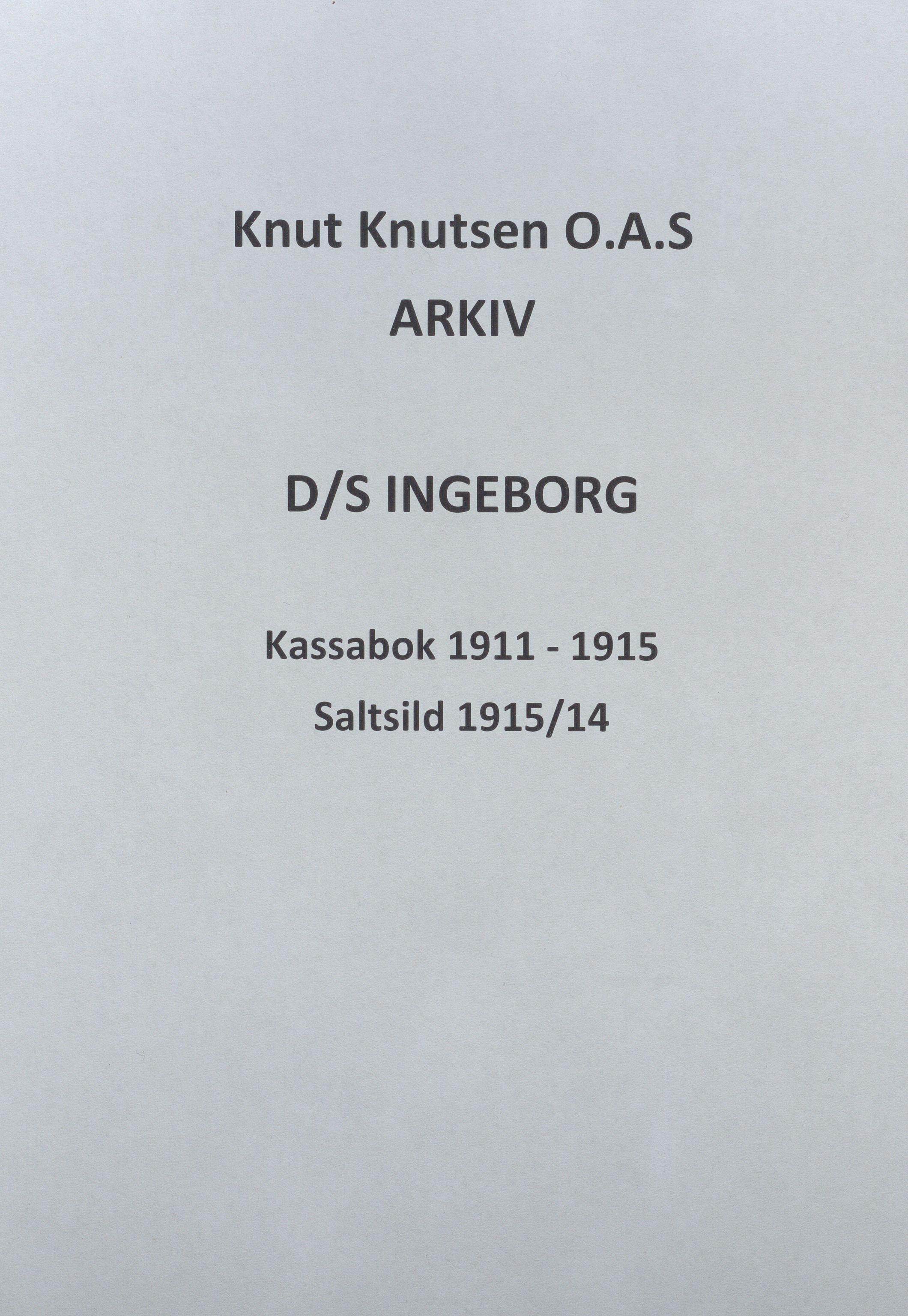 HABI, Knut Knutsen O.A.S., 1911-1915
