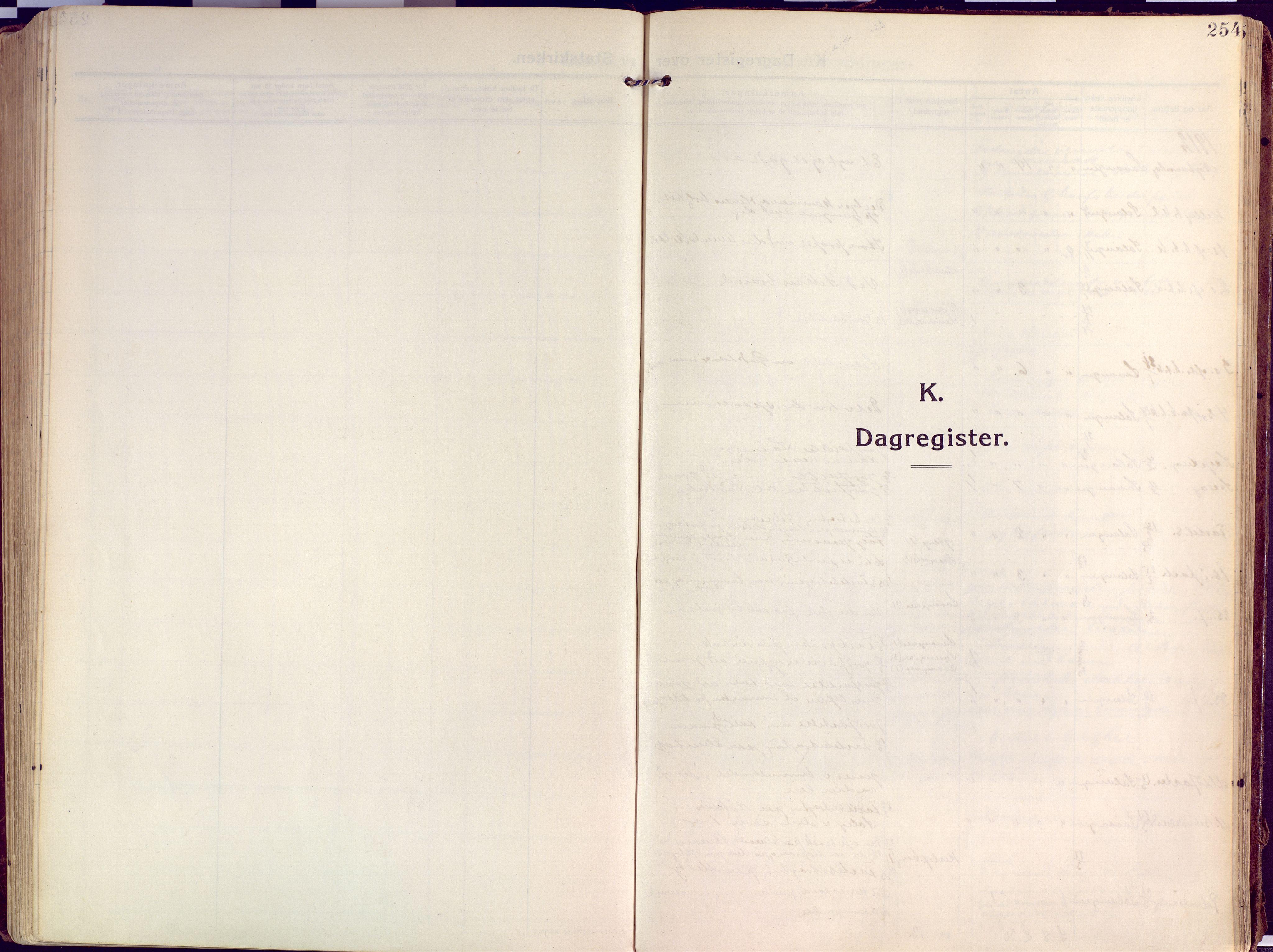 SATØ, Salangen sokneprestembete, H/Ha/L0004kirke: Parish register (official) no. 4, 1912-1927, p. 254