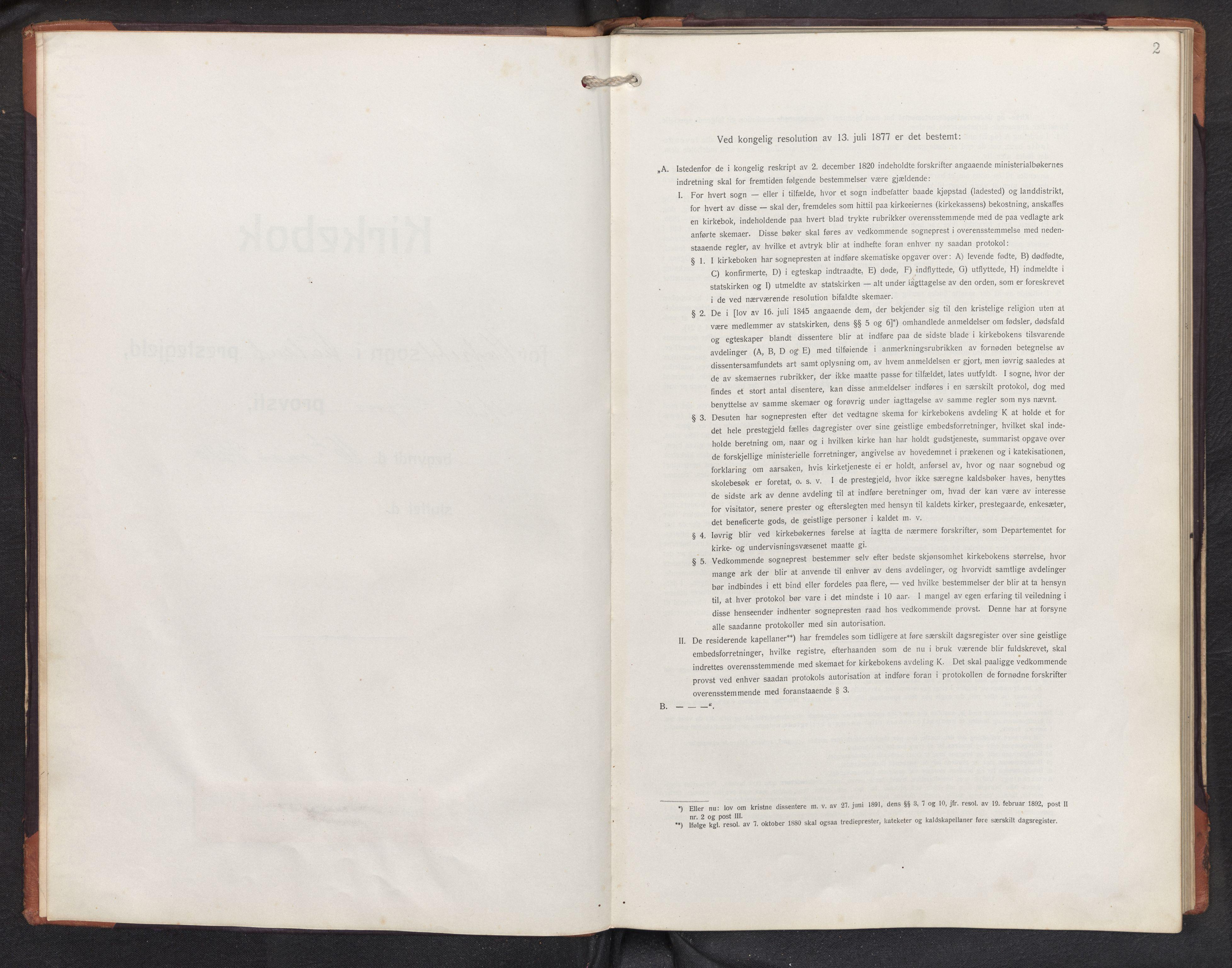 SAB, Aurland sokneprestembete, H/Hb/Hbd/L0003: Parish register (copy) no. D 3, 1920-1968, p. 1b-2a