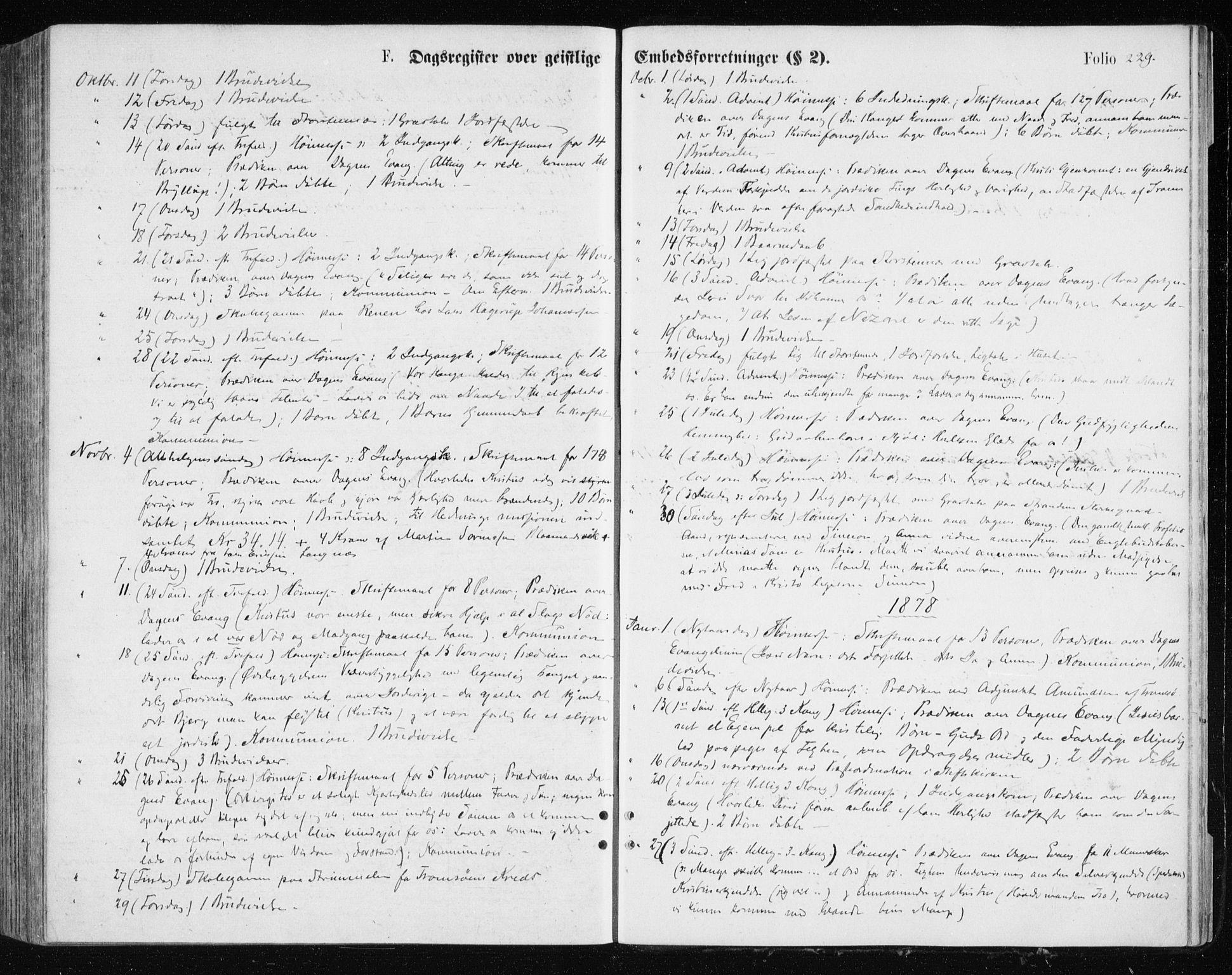 SATØ, Tromsøysund sokneprestkontor, G/Ga/L0003kirke: Parish register (official) no. 3, 1875-1880, p. 229