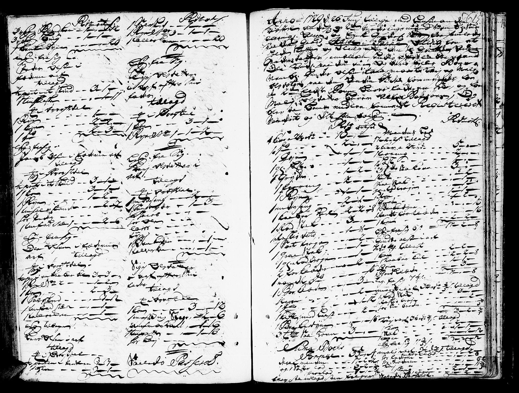 SAT, Romsdal sorenskriveri, 3/3A/L0006: Skifteprotokoll, 1718-1730, p. 614b-615a