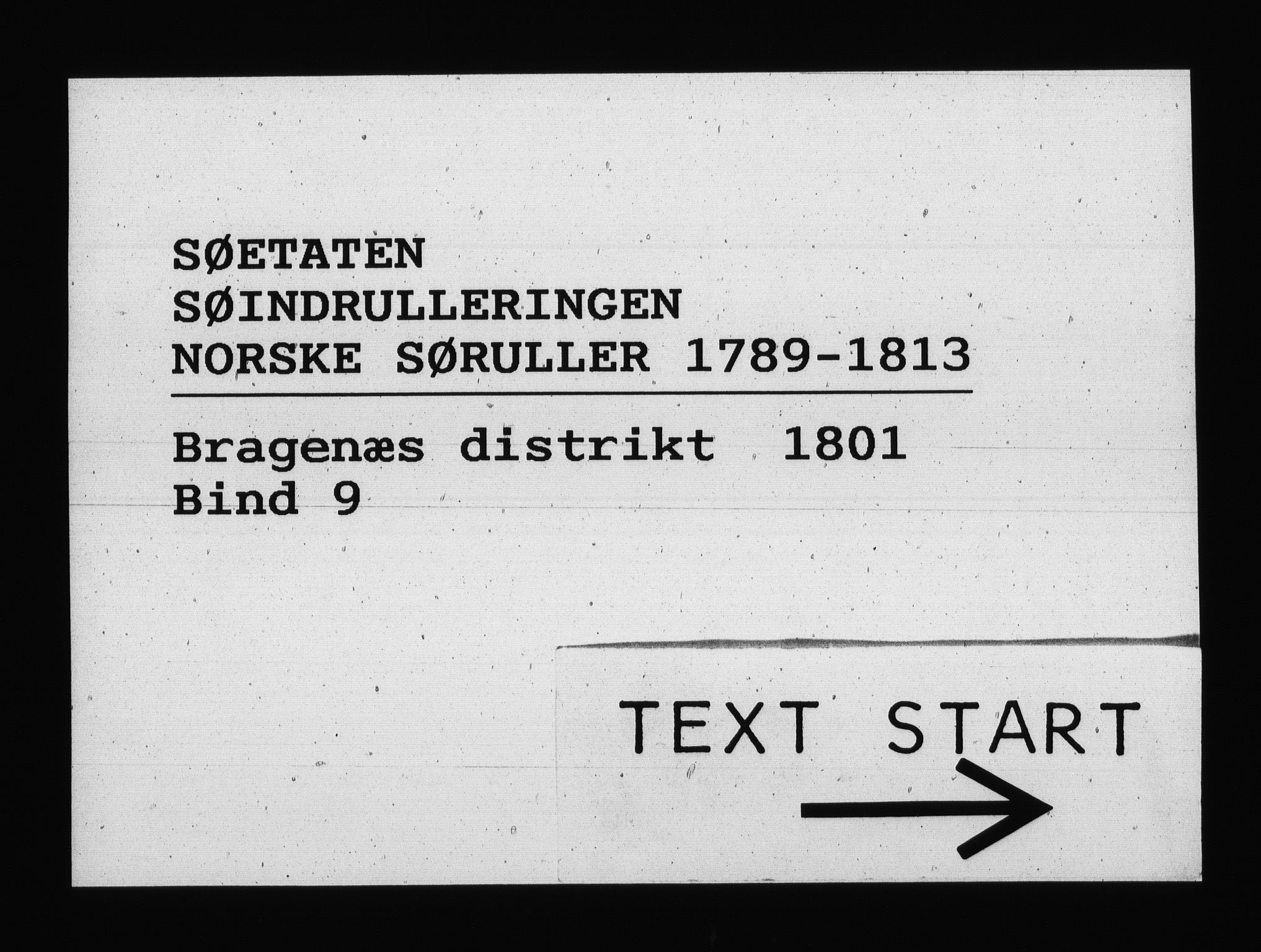 RA, Sjøetaten, F/L0142: Bragernes distrikt, bind 9, 1801