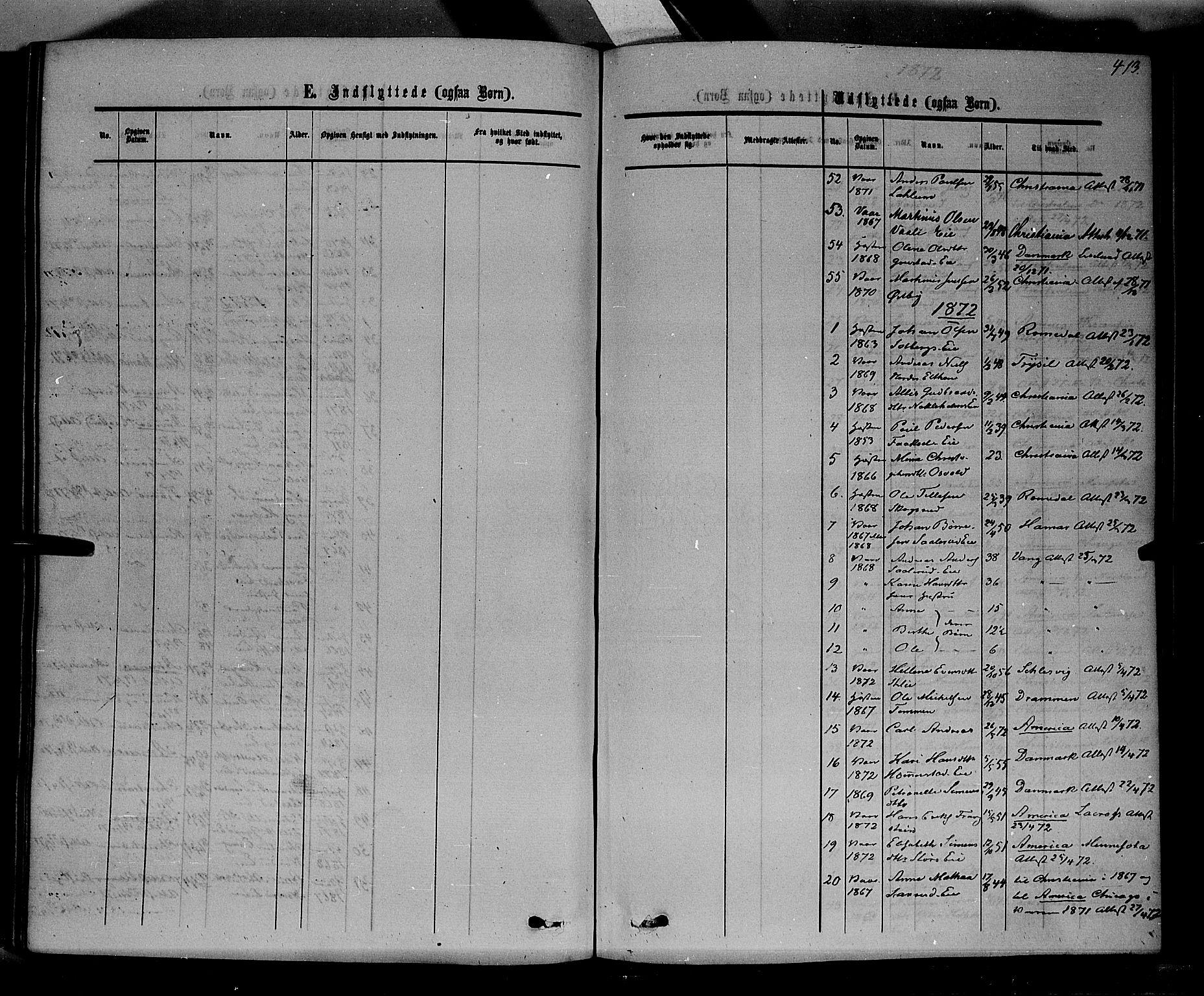 SAH, Stange prestekontor, K/L0013: Parish register (official) no. 13, 1862-1879, p. 413