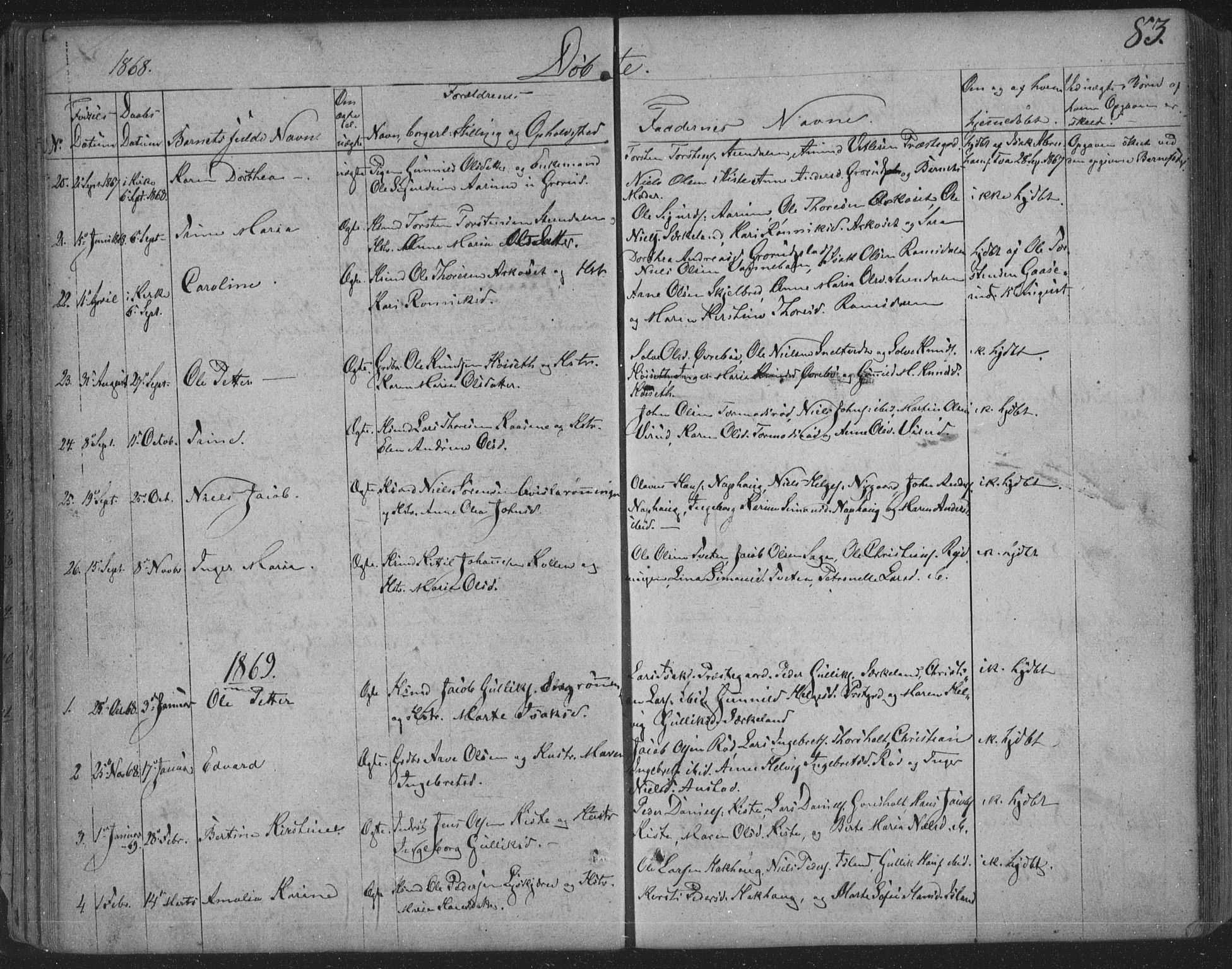 SAKO, Siljan kirkebøker, F/Fa/L0001: Parish register (official) no. 1, 1831-1870, p. 83