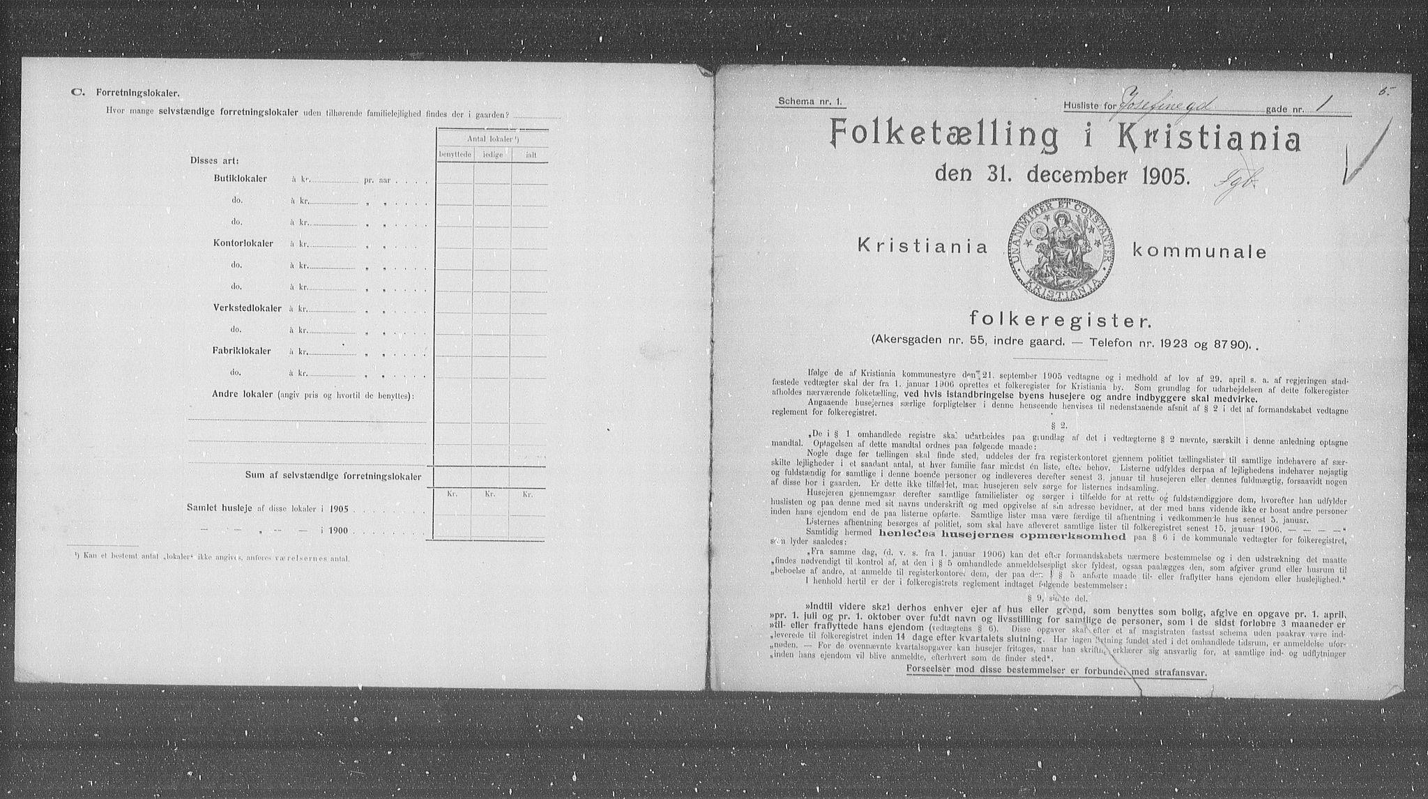 OBA, Municipal Census 1905 for Kristiania, 1905, p. 24811
