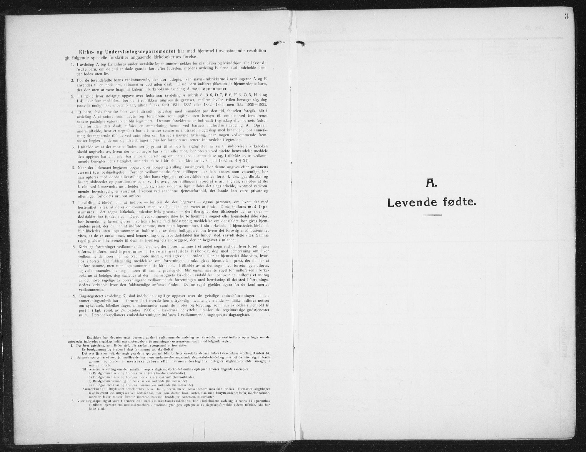 SAT, Ministerialprotokoller, klokkerbøker og fødselsregistre - Nordland, 882/L1183: Parish register (copy) no. 882C01, 1911-1938, p. 3