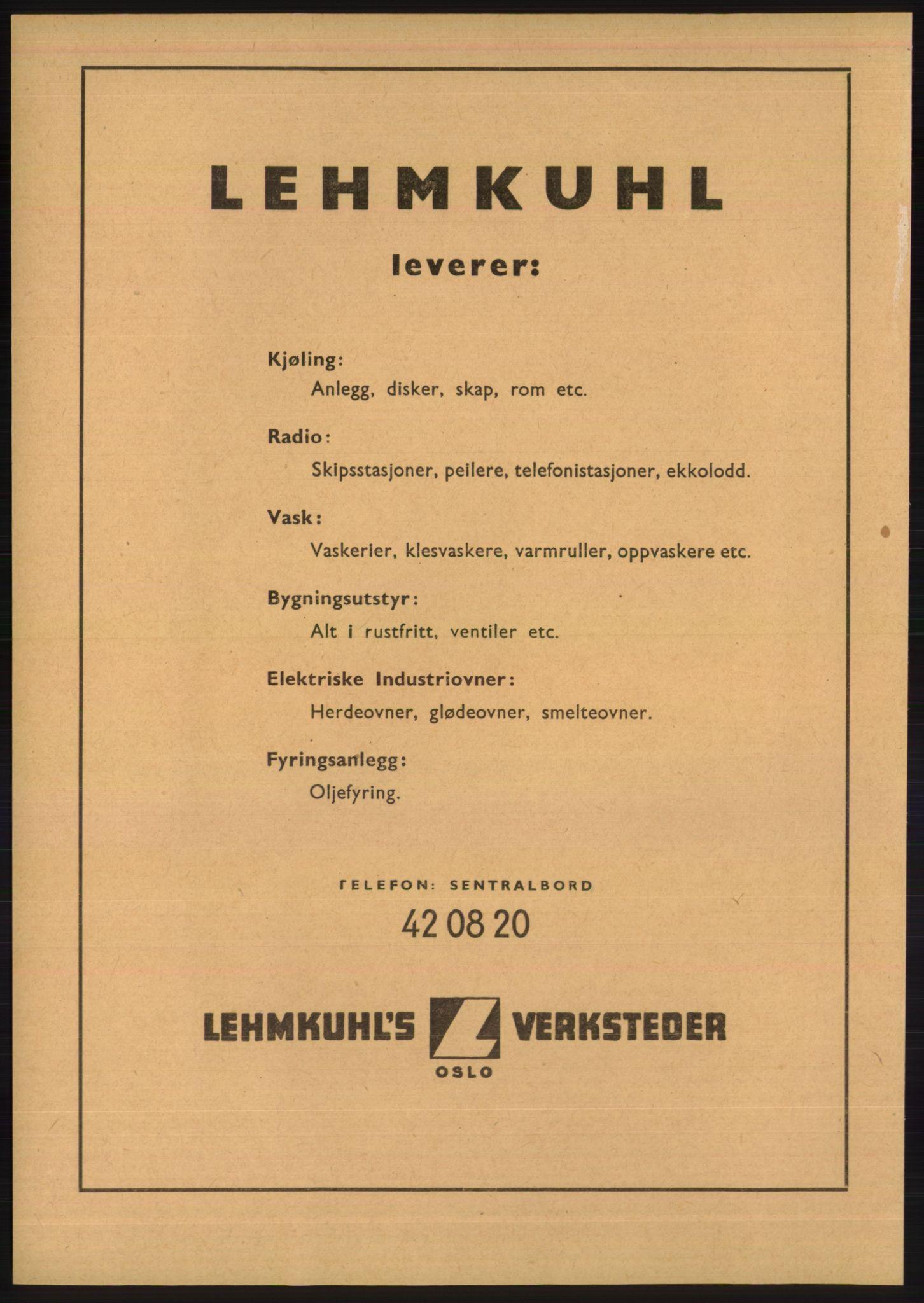 PUBL, Kristiania/Oslo adressebok, 1948