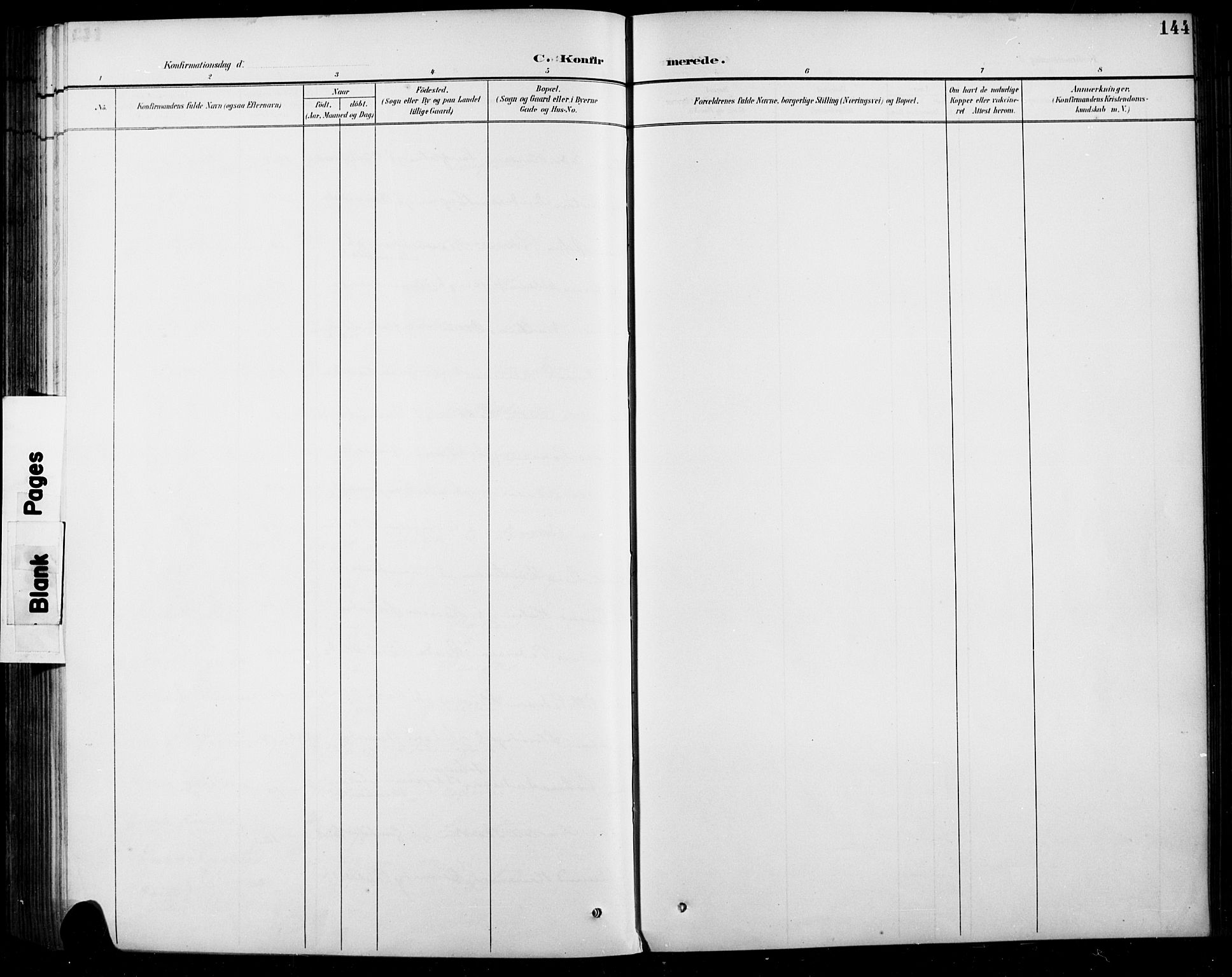 SAH, Sel prestekontor, Parish register (copy) no. 5, 1894-1923, p. 144