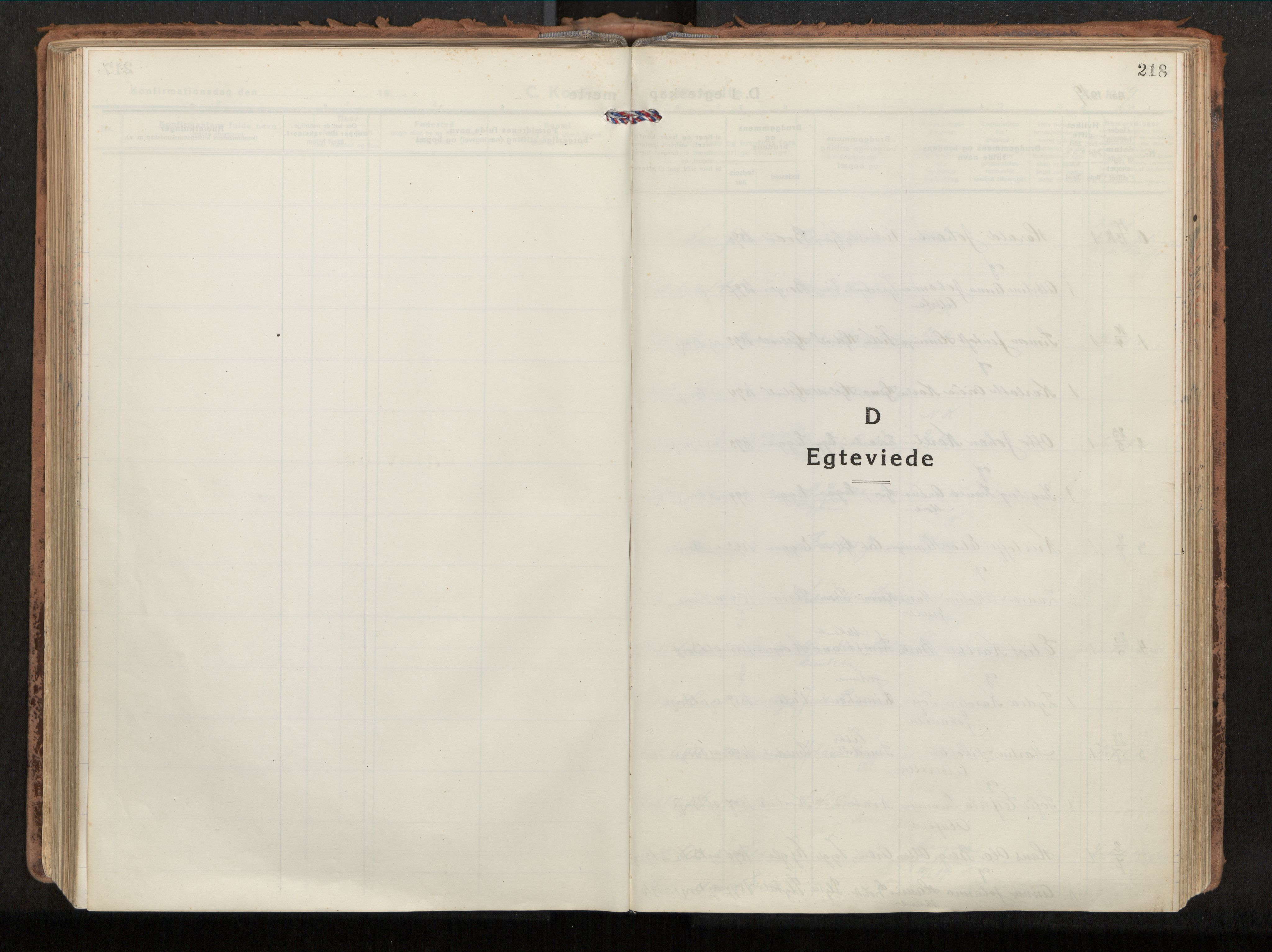 SAT, Ministerialprotokoller, klokkerbøker og fødselsregistre - Nordland, 880/L1136: Parish register (official) no. 880A10, 1919-1927, p. 218