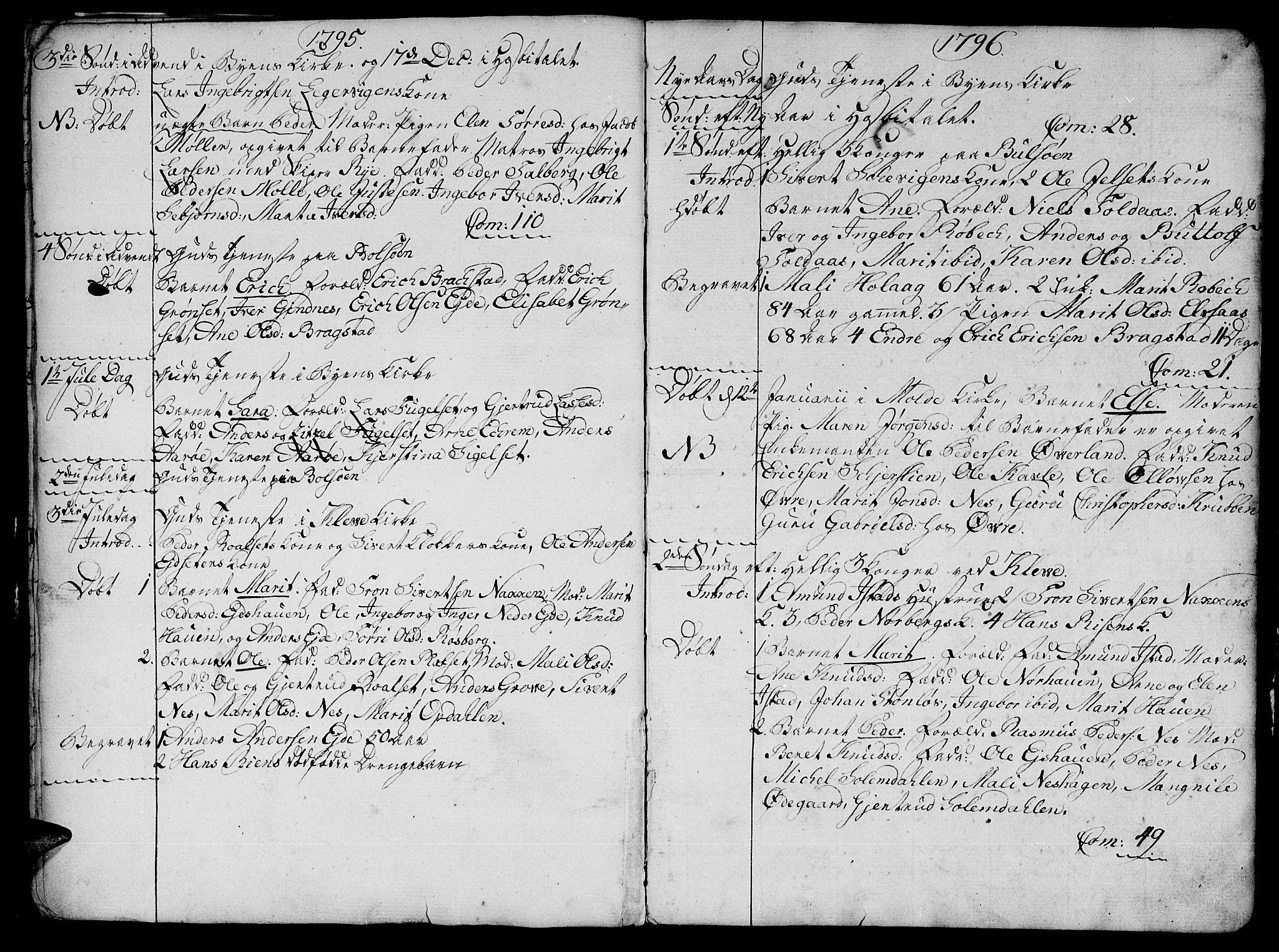 SAT, Ministerialprotokoller, klokkerbøker og fødselsregistre - Møre og Romsdal, 555/L0649: Parish register (official) no. 555A02 /1, 1795-1821, p. 7