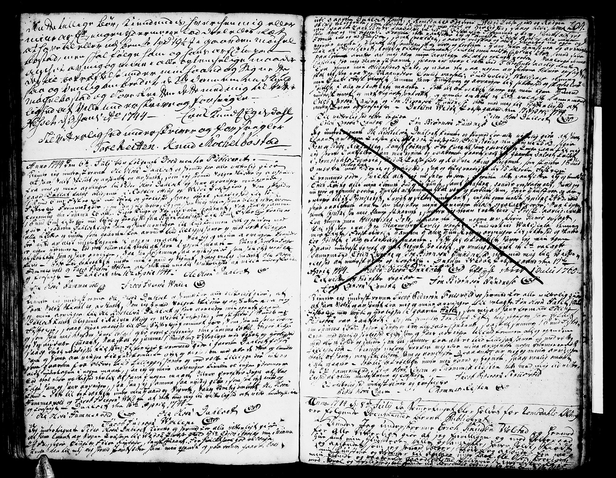 SAT, Romsdal sorenskriveri, 2/2C/L0002: Mortgage book no. 2, 1731-1745, p. 204